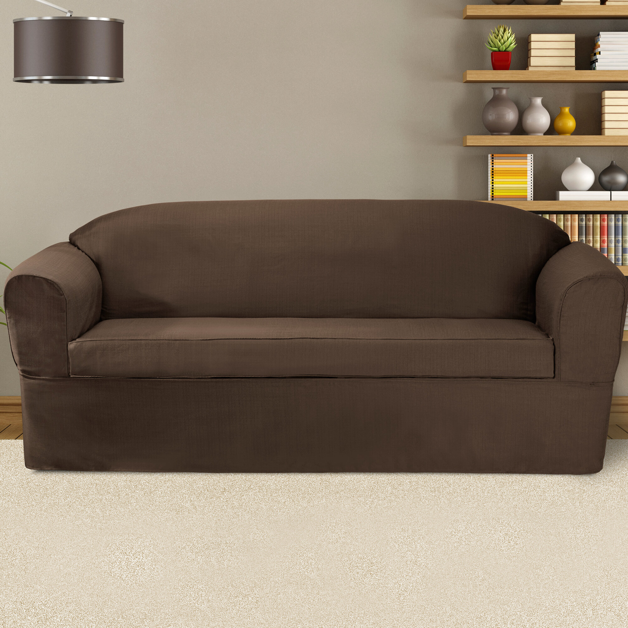 Sofa Slipcover With Separate Cushion Covers: CoverWorks Bayleigh Sofa Cushion Slipcover