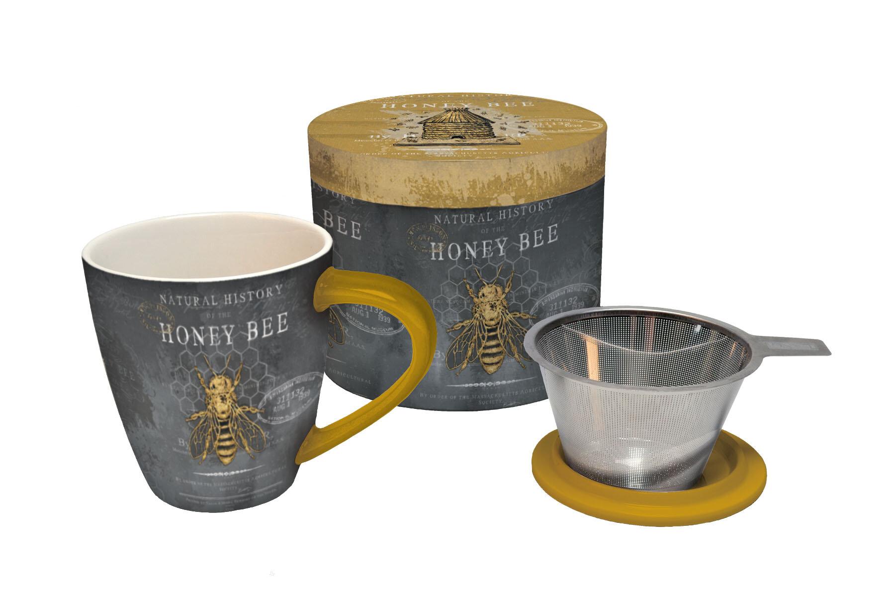 lang 4 piece honey bee tea infuser mug set. Black Bedroom Furniture Sets. Home Design Ideas