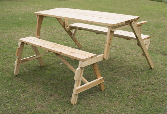 Outsunny Convertible Table And Picnic Bench Ebay