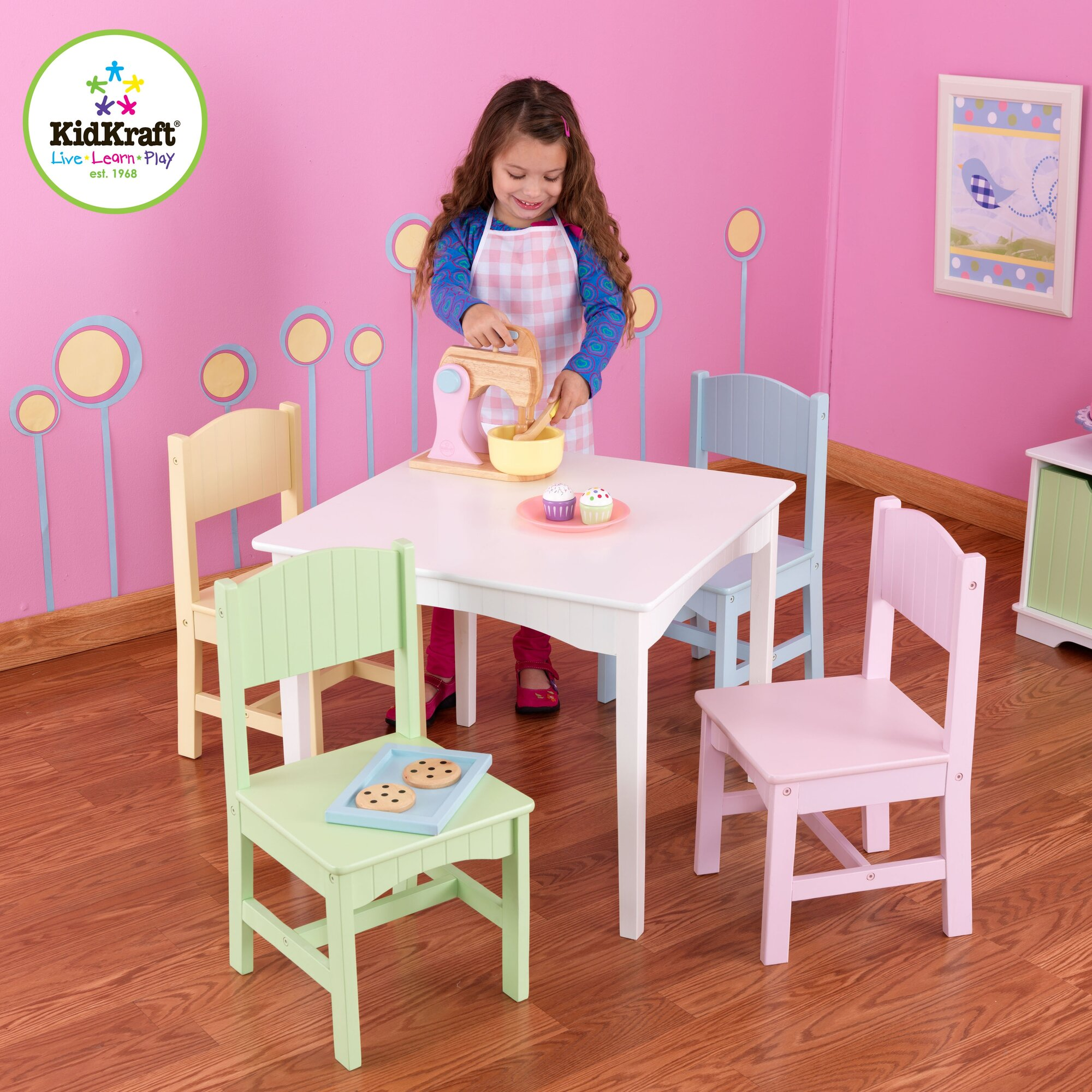 Kidkraft Nantucket Kids 039 5 Piece Table And Chair Set Ebay