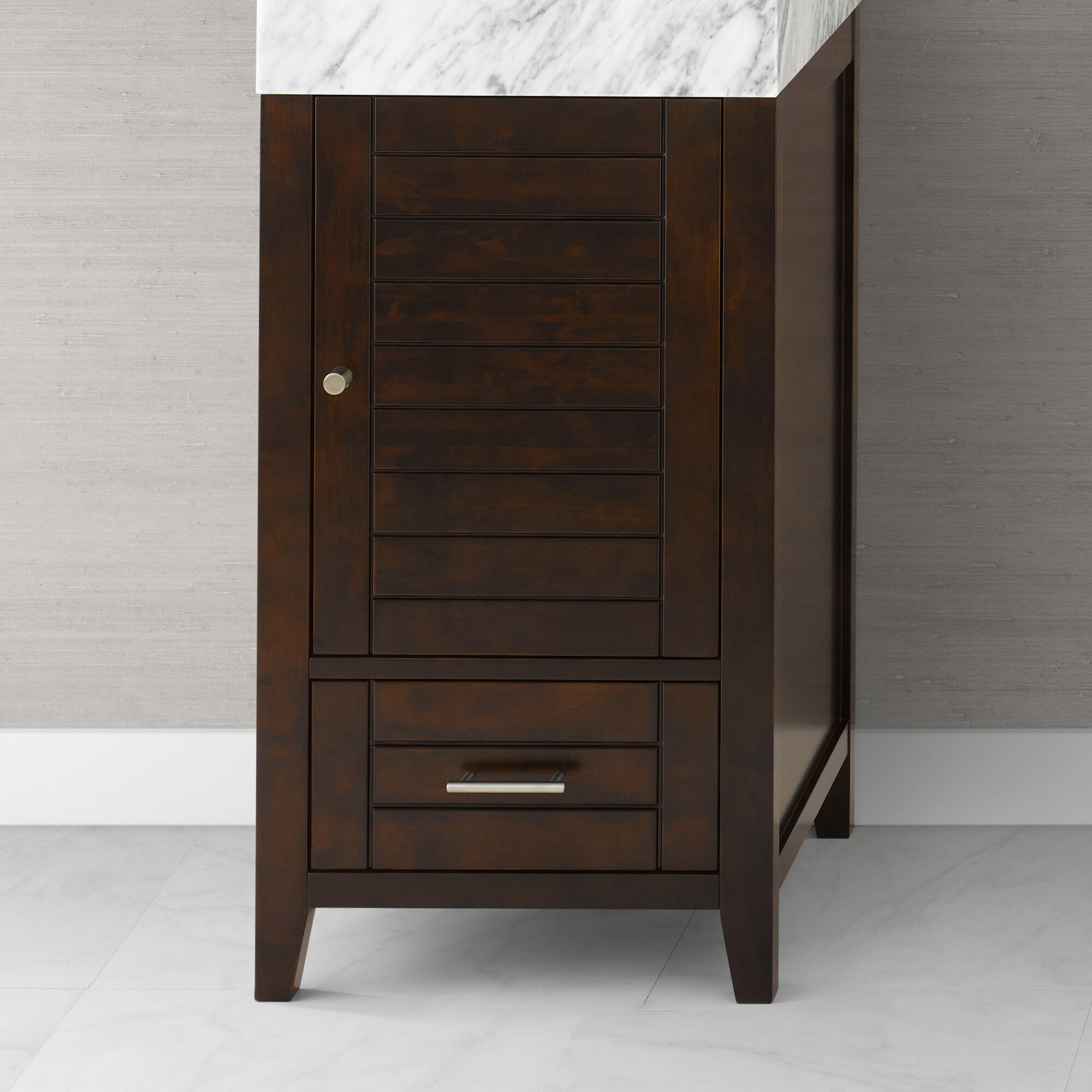 ronbow elise 18 bathroom vanity base cabinet in vintage walnut ebay