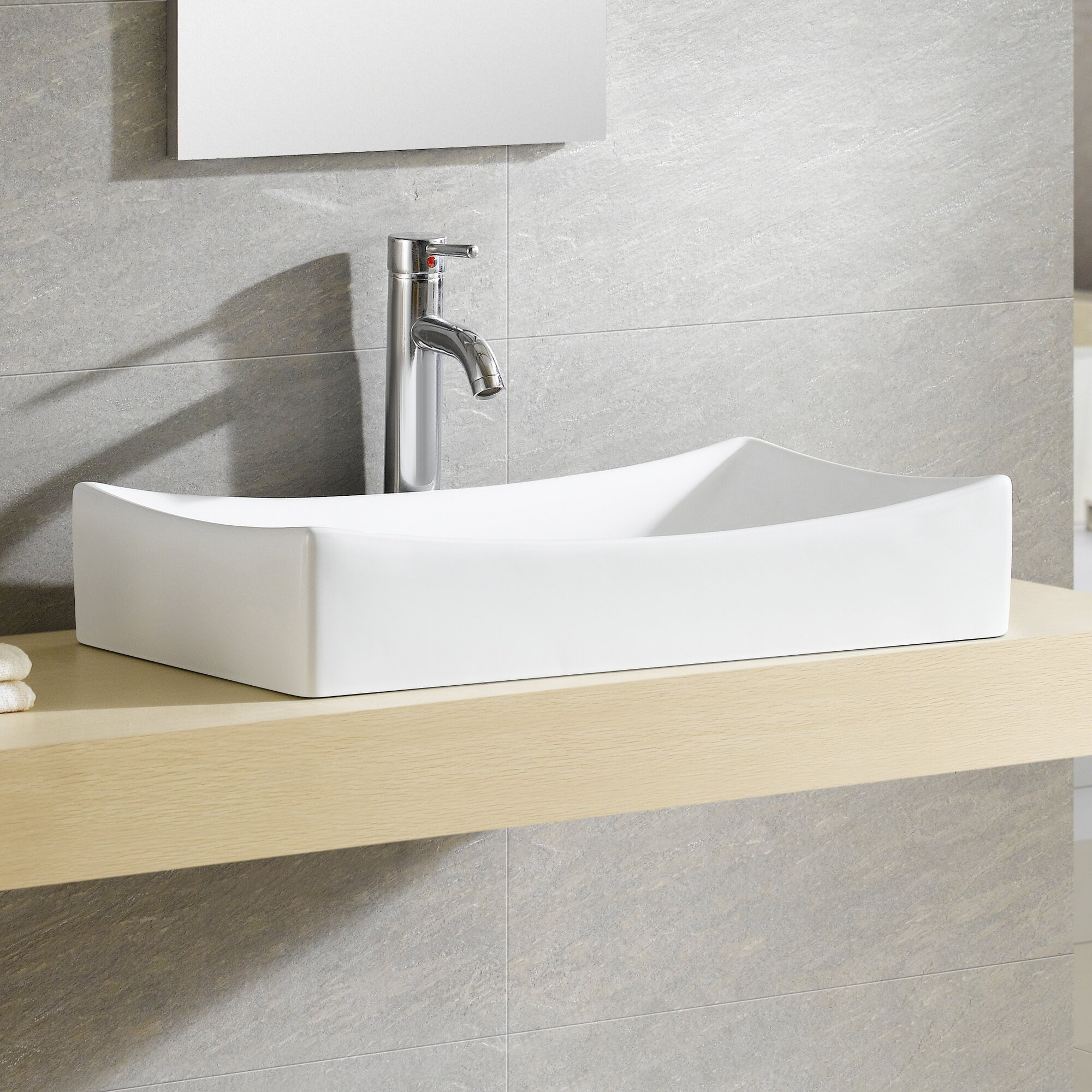 rectangular vessel bathroom sinks fixtures modern vitreous rectangular vessel bathroom 20124