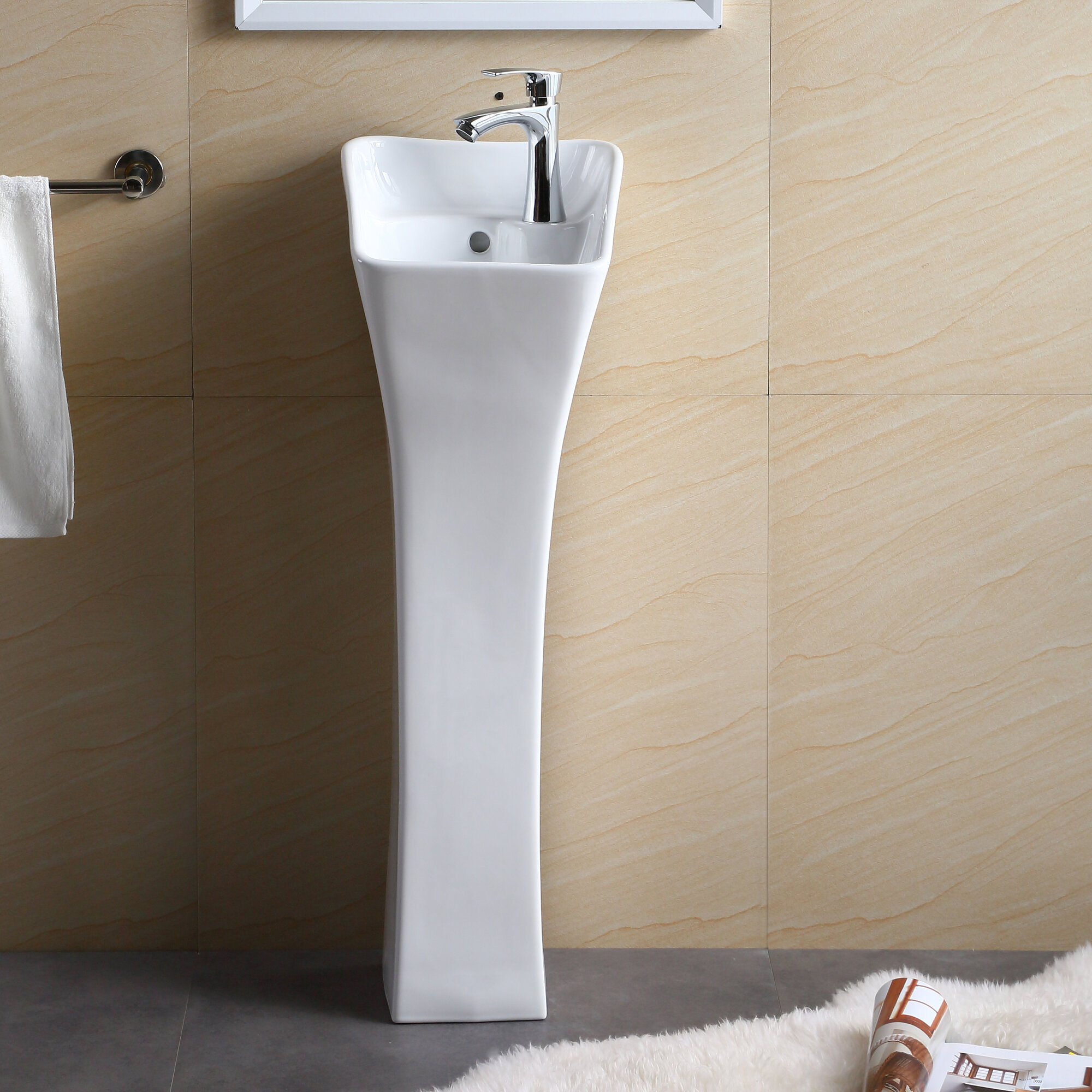 "Bathroom Sinks With Pedestals: Fine Fixtures Pedestal Series 13"" Bathroom Sink"