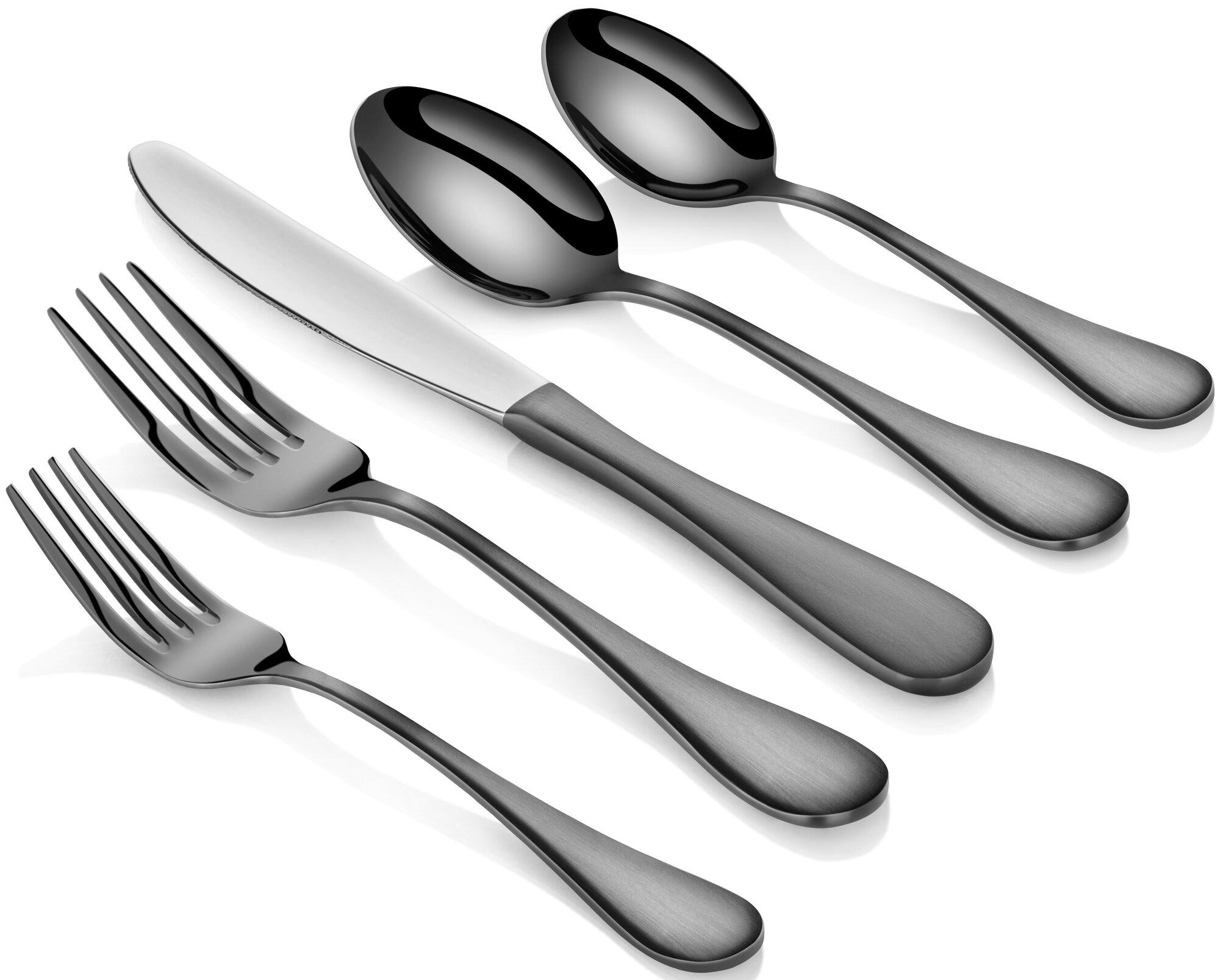 Artaste rain 20 piece stainless steel flatware set ebay