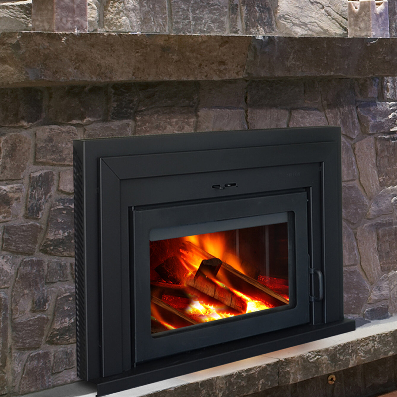 Supreme fireplaces inc fusion wall mount wood burning Contemporary wood burning fireplace inserts