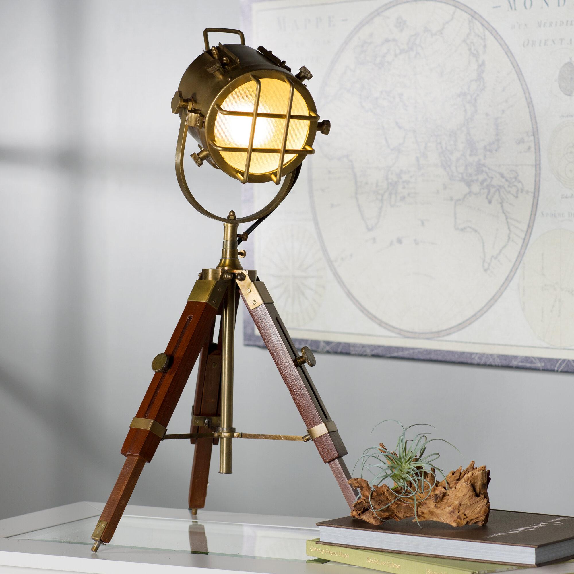 Breakwater bay keyes spot light 27 tripod table lamp ebay - Tripod spotlight table lamp ...
