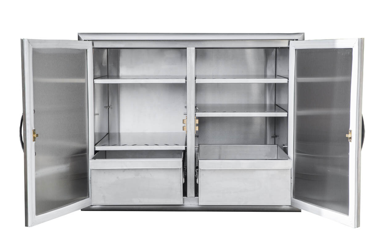 barbeques galore stainless steel dry storage cabinet ebay. Black Bedroom Furniture Sets. Home Design Ideas