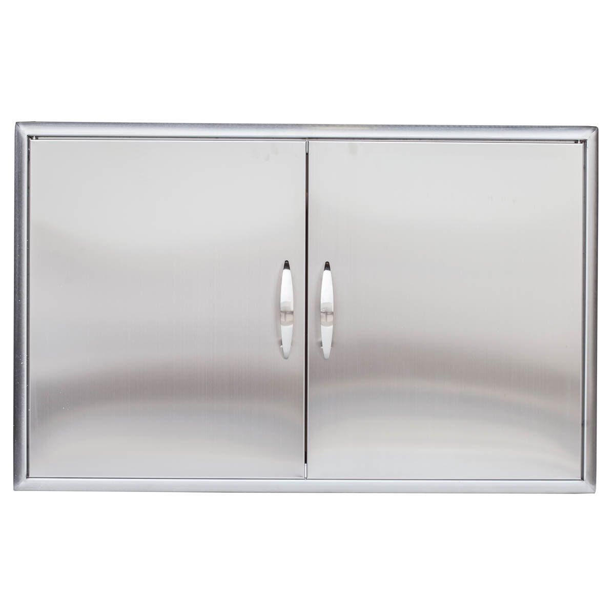 1200 #5D636E Barbeques Galore Stainless Steel Double Access Door BBQG1014 save image Stainless Steel Entrance Doors 47371200