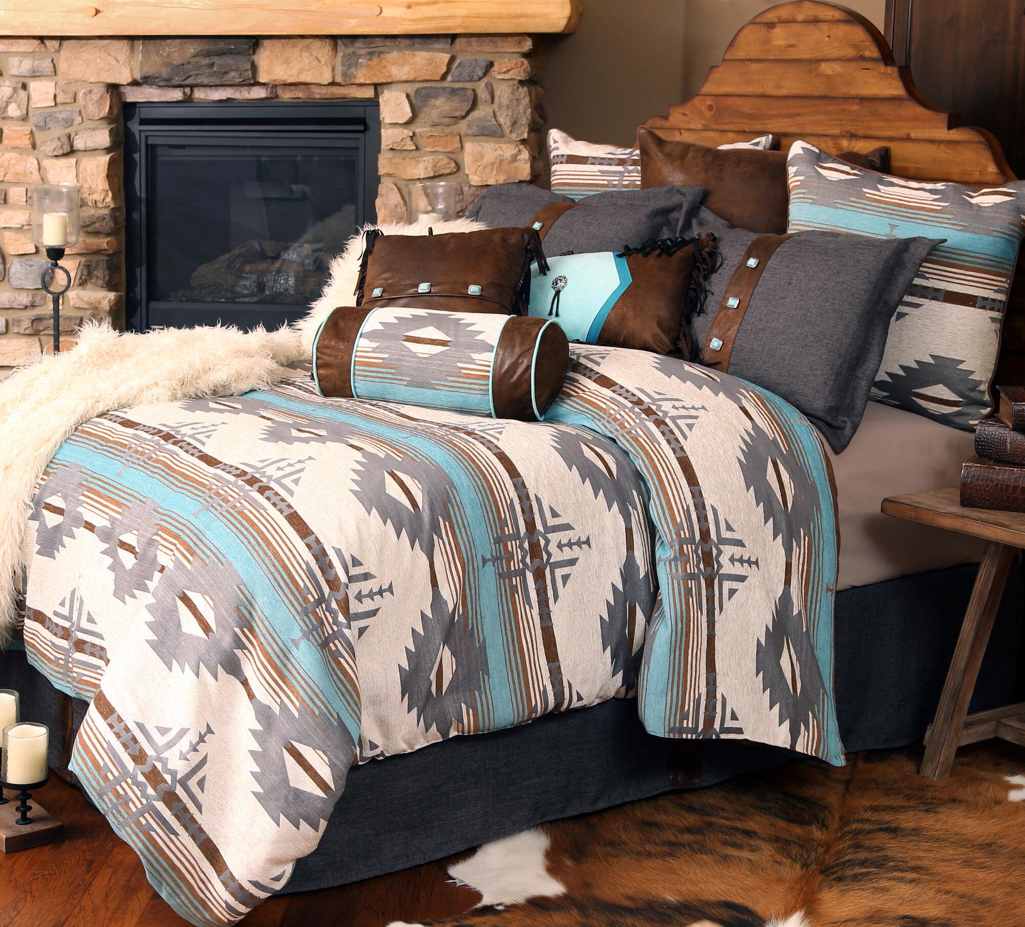 Turquoise Bedroom Set Carstens Inc Badlands Southwest Comforter Set Ebay