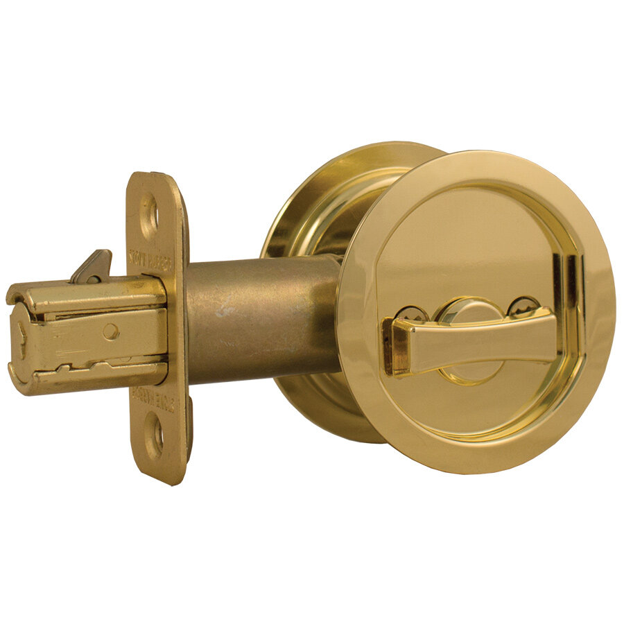 Stone Harbor Hardware Round Pocket Door Lock