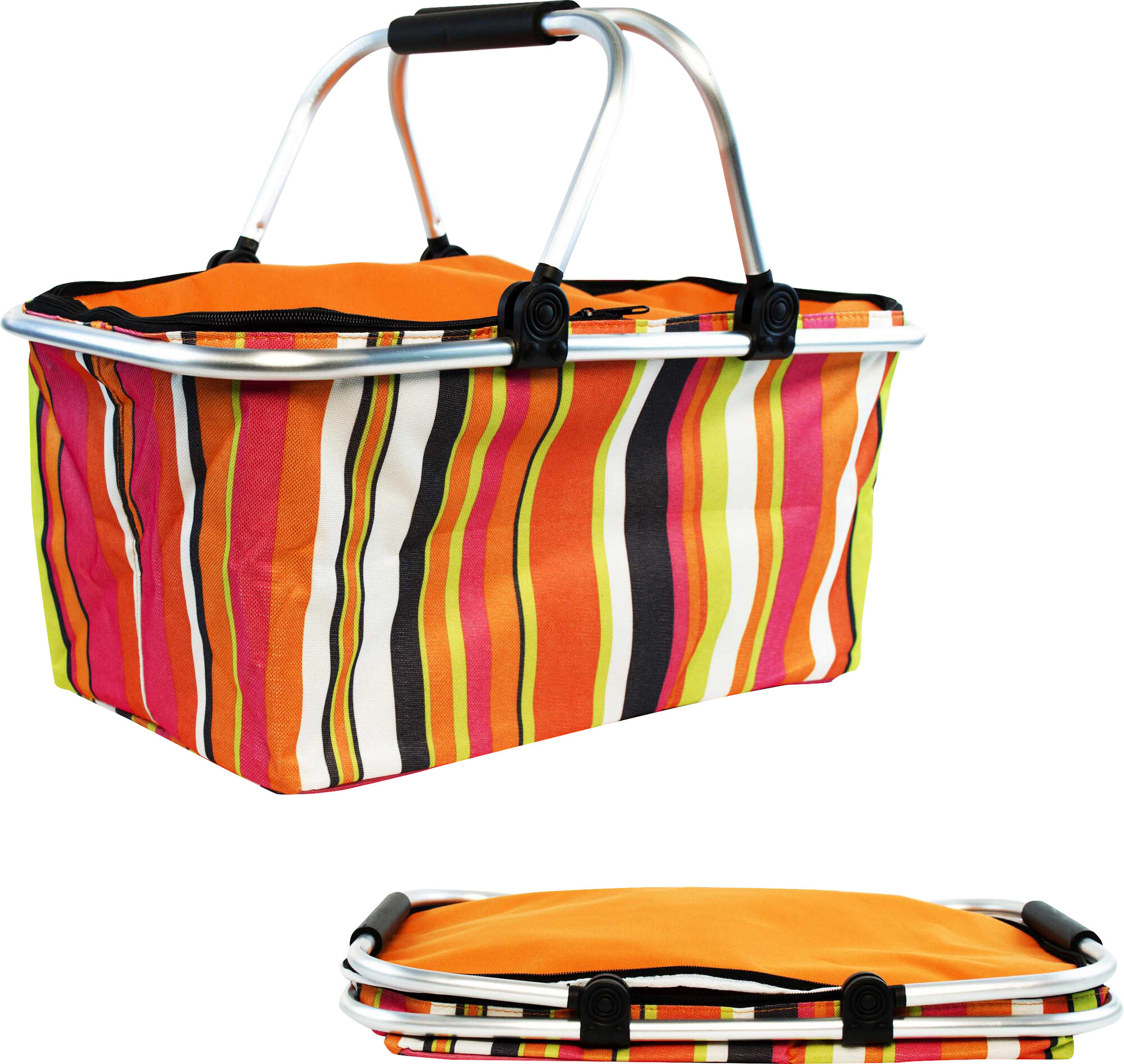 Collapsible Insulated Picnic Basket For 4 : Symple stuff insulated folding picnic basket