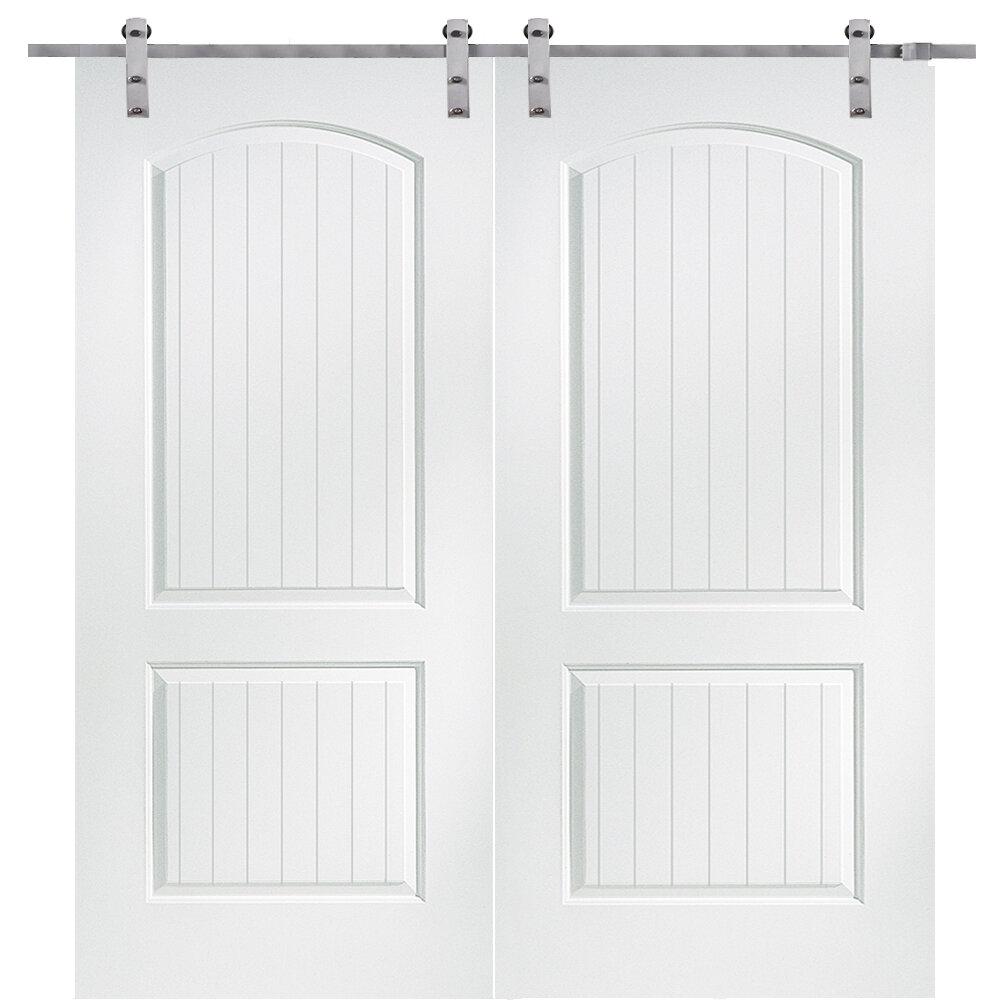 Verona home design santa fe mdf 2 panel interior barn door - Interior design verona ...