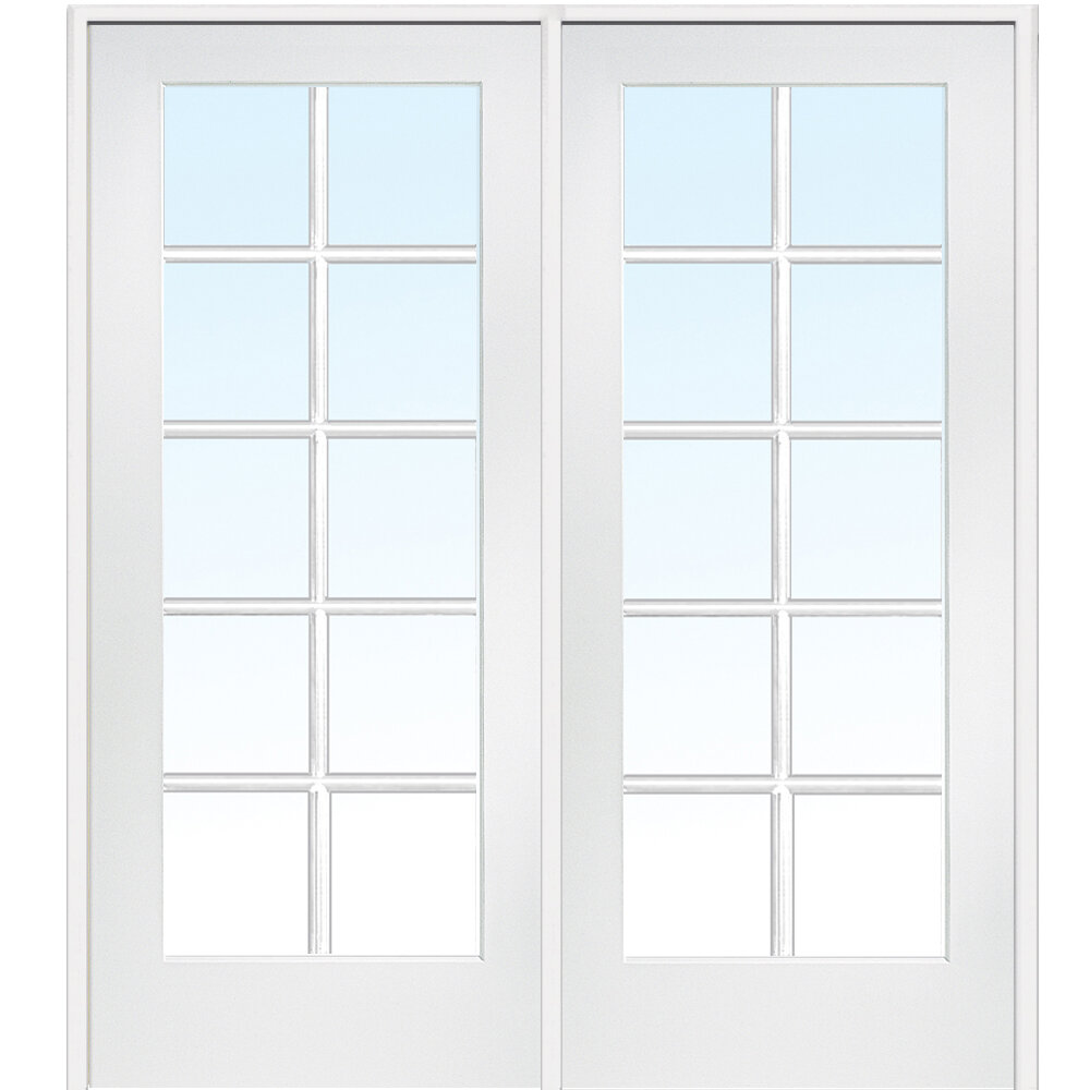 Verona Home Design Mdf 2 Panel Primed Interior French Door Vron1194 Ebay