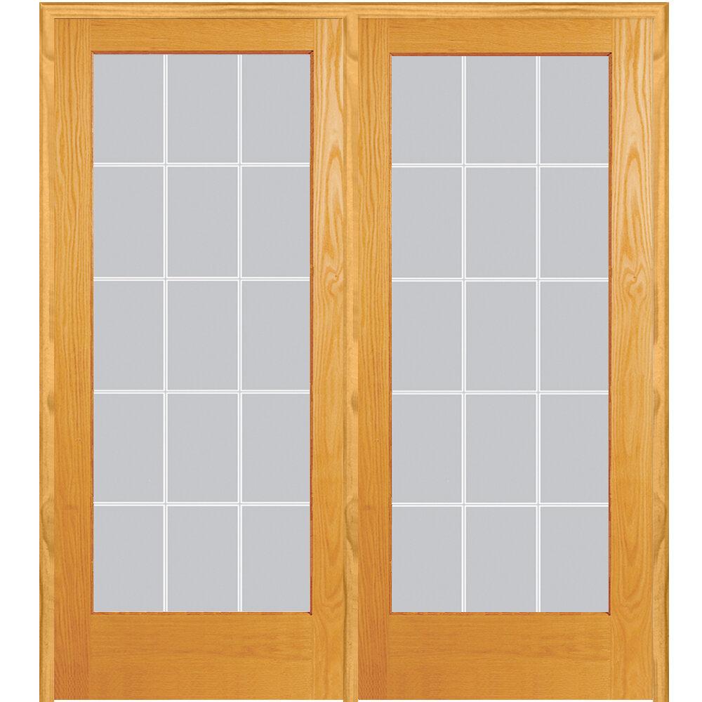 Verona Home Design Wood 2-Panel Natural Interior French