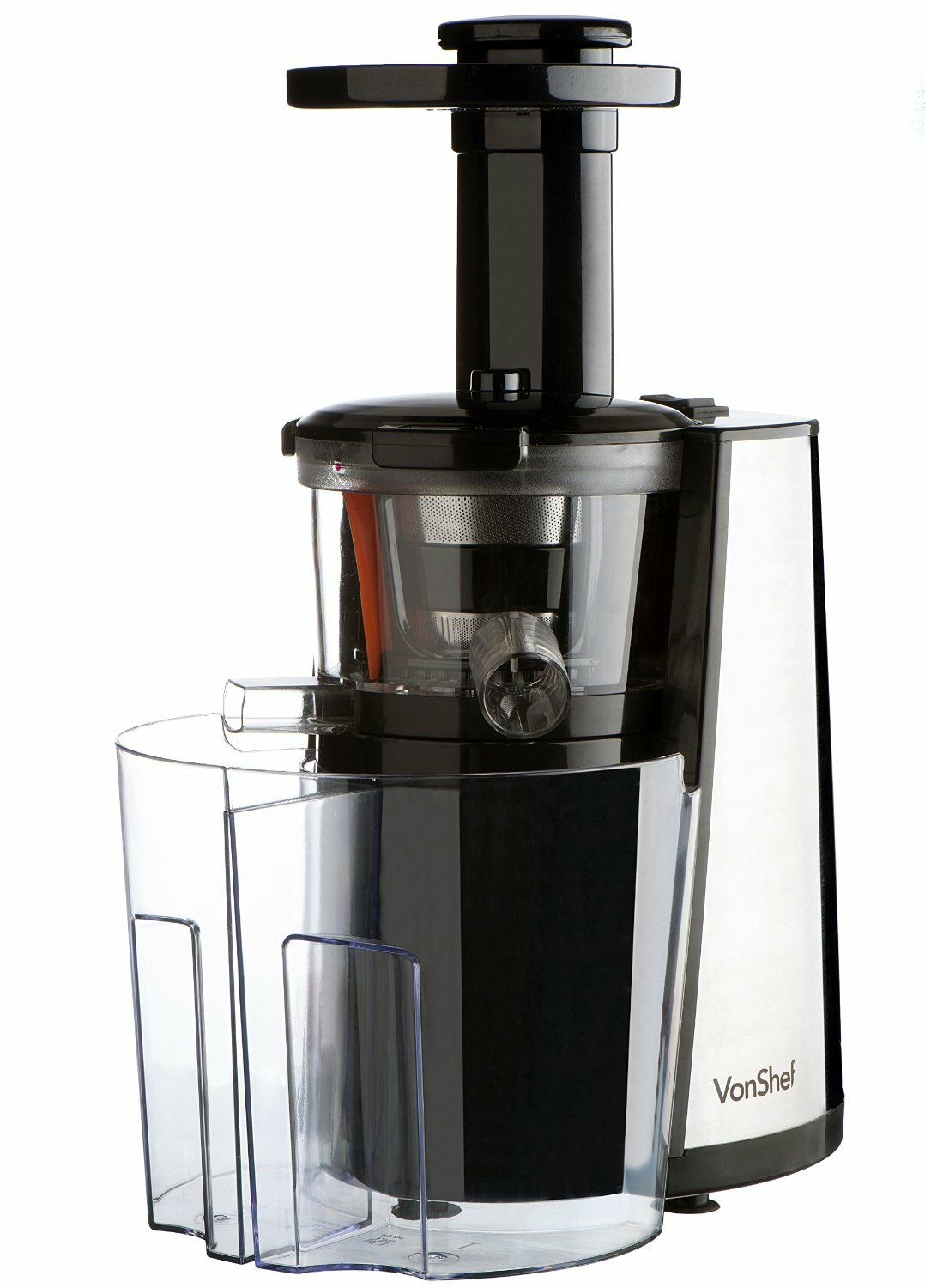Vonshef Slow Juicer Horizontal Masticating Juice Extractor Wheatgrass Fruit : vonShef 150W Slow Masticating Single Auger Juicer