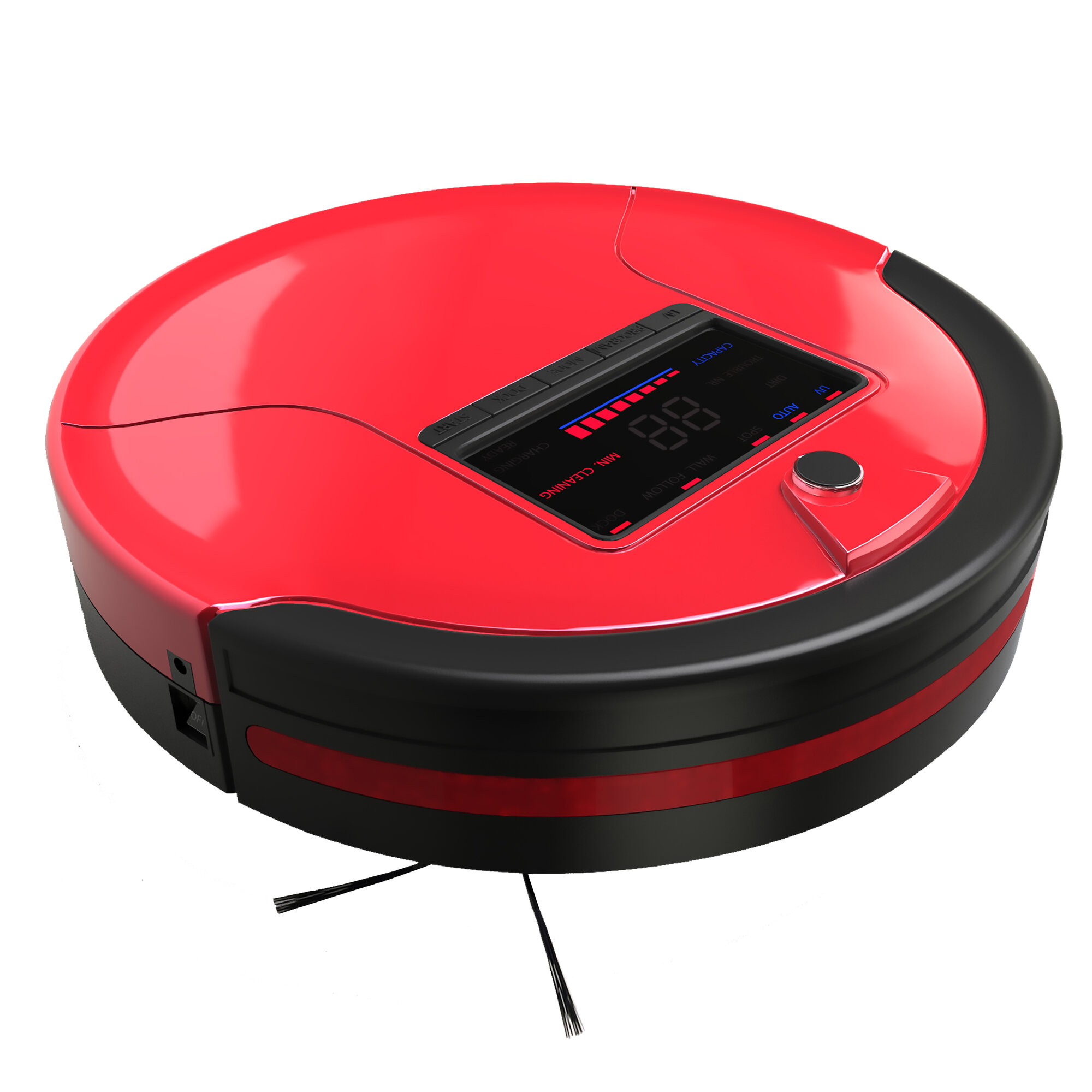 Bobsweep Pethair Robotic Vacuum Cleaner And Mop Rouge Ebay