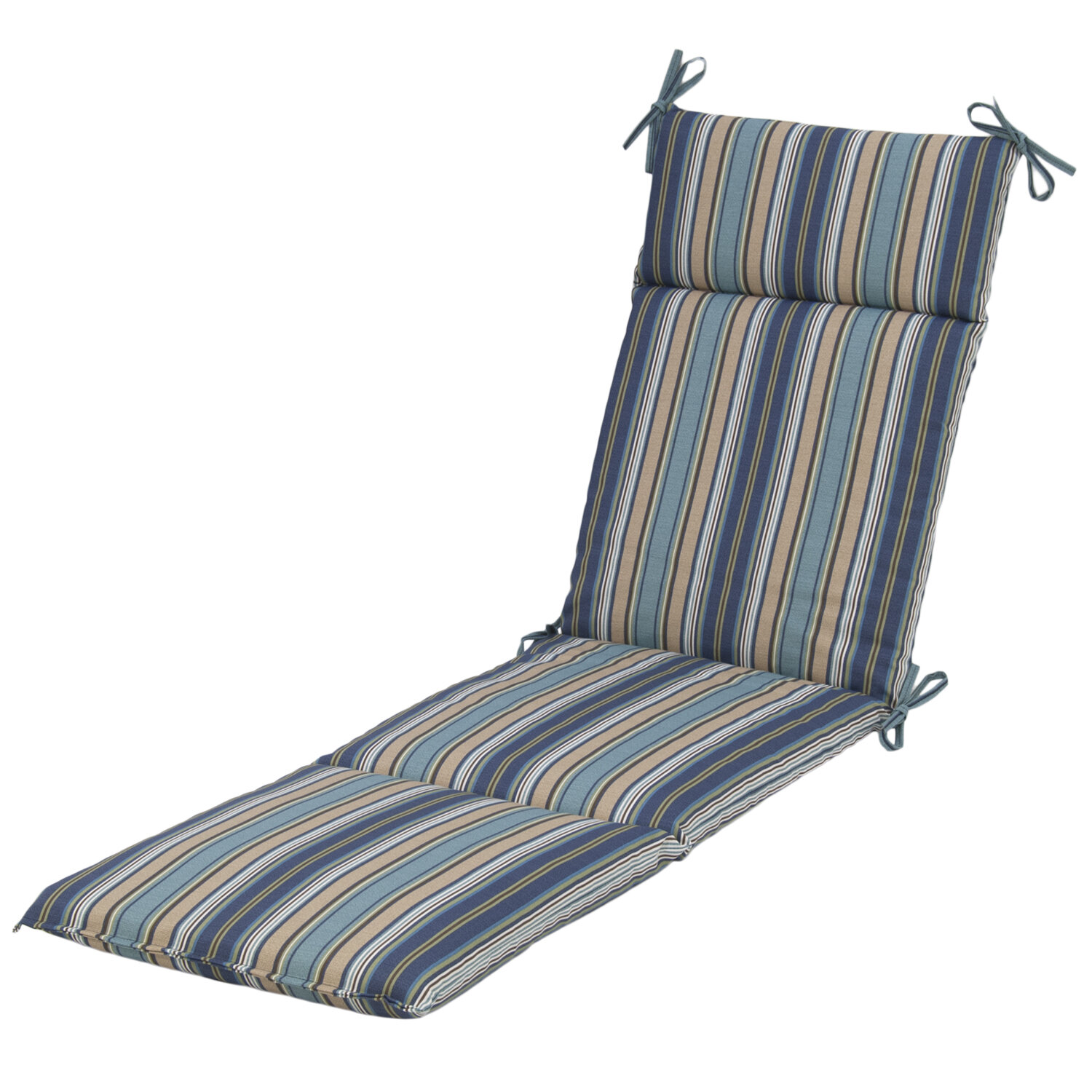 Plantation patterns quebec stripe pacific outdoor chaise for Blue and white striped chaise lounge cushions