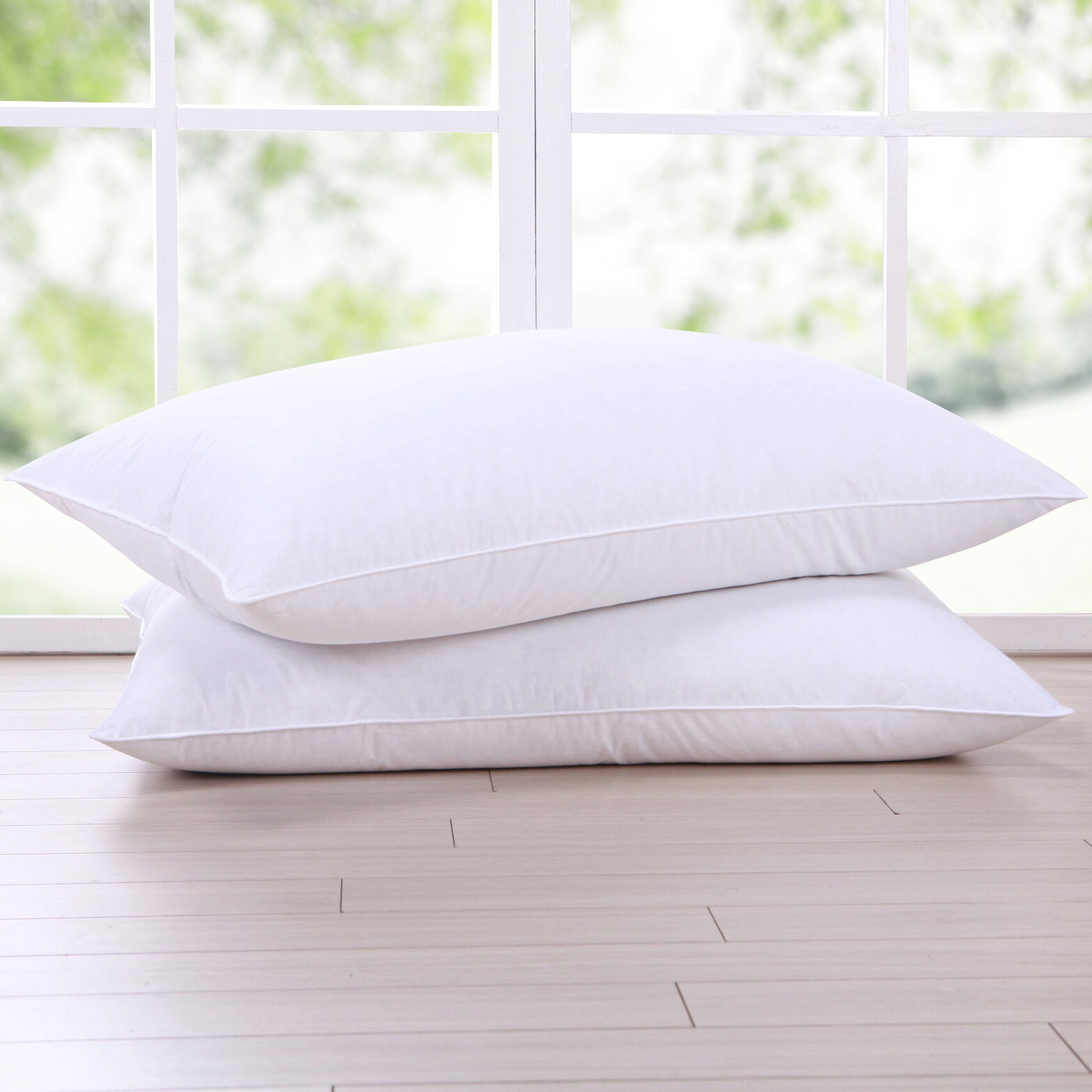 Puredown Goose Feathers And Down Pillow Set Of 2 Ebay
