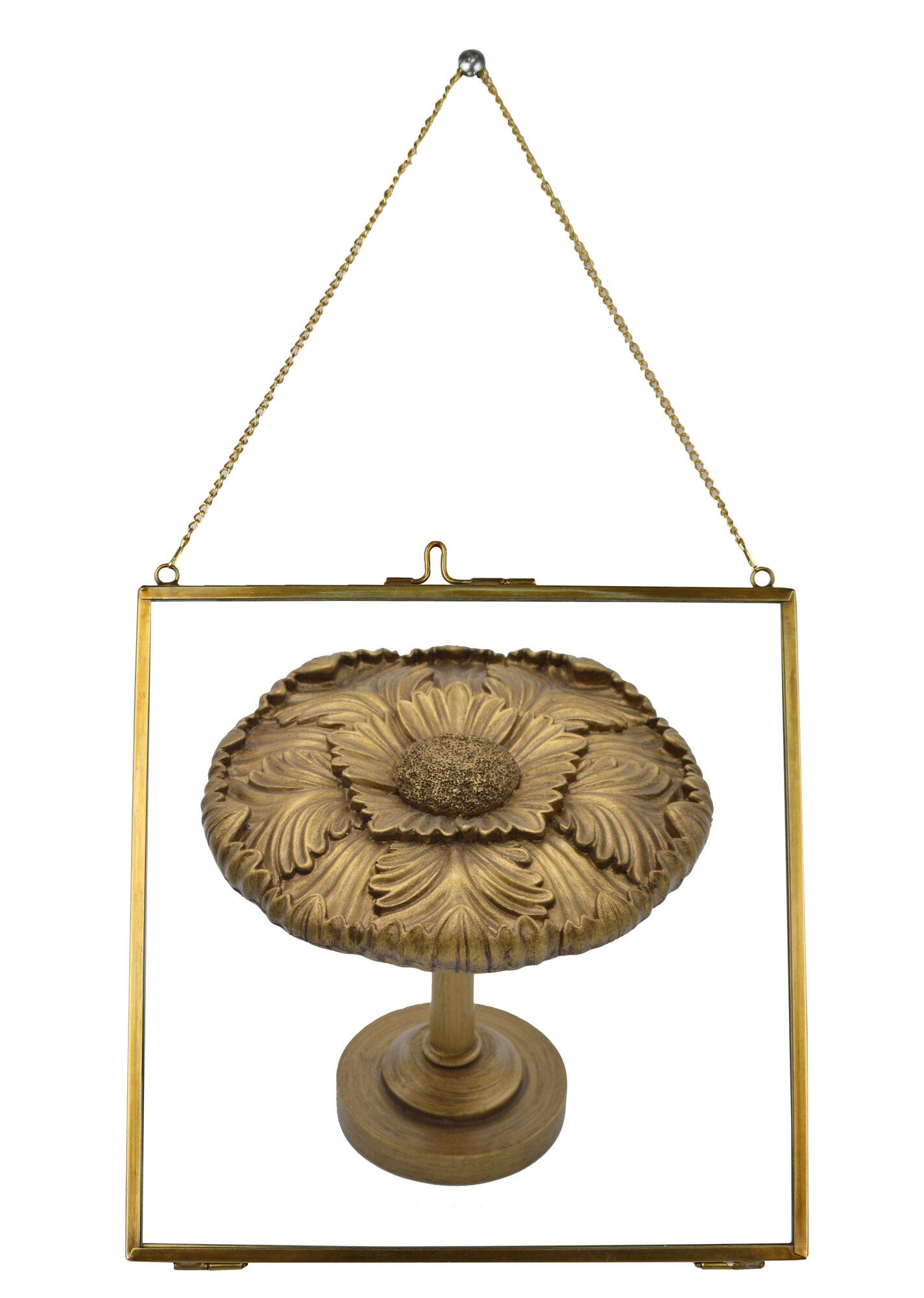 urbanest brixton brass and glass hanging picture frame ebay. Black Bedroom Furniture Sets. Home Design Ideas