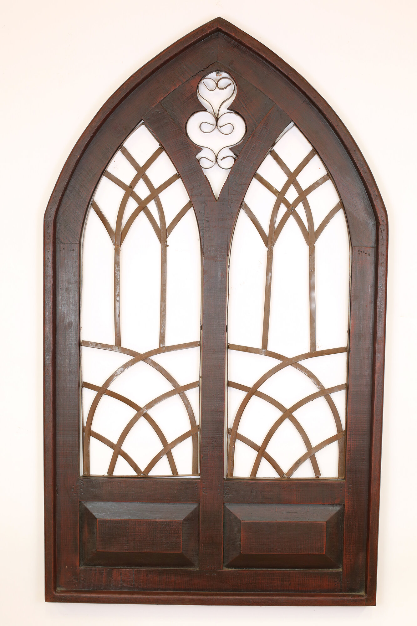 My amigos imports gothic double architectural window wall for Architectural wall mural