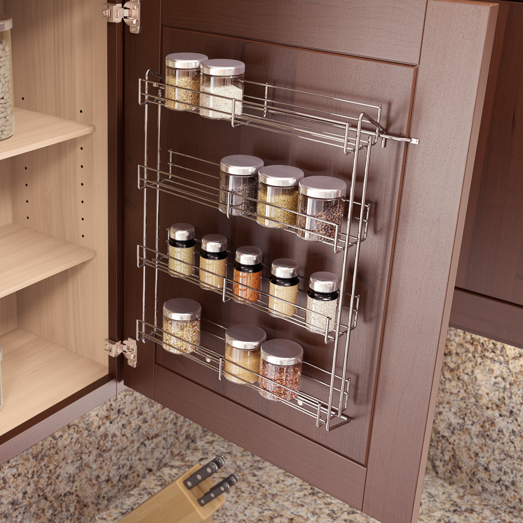 Spice Rack For Kitchen Cabinets: Vauth-Sagel Spice Rack VTSG1150
