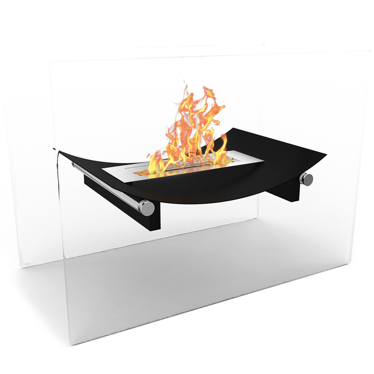 Elite Flame Bow Free Standing Indoor Outdoor Bio Ethanol