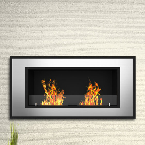 Elite Flame Tulsa Ventless Wall Mount Bio Ethanol Fireplace Ebay