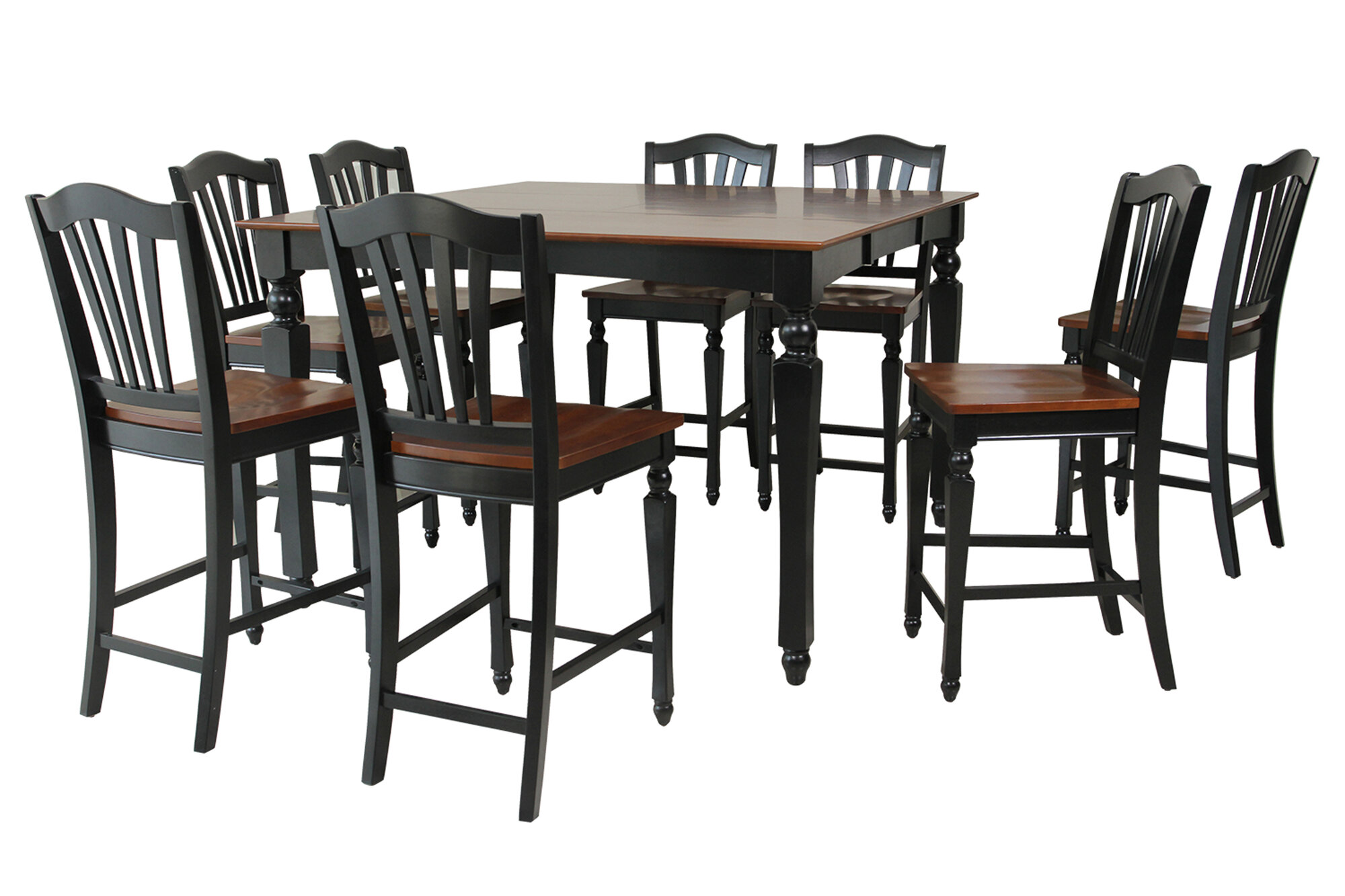 details about ttp furnish onoway 9 piece counter height dining set