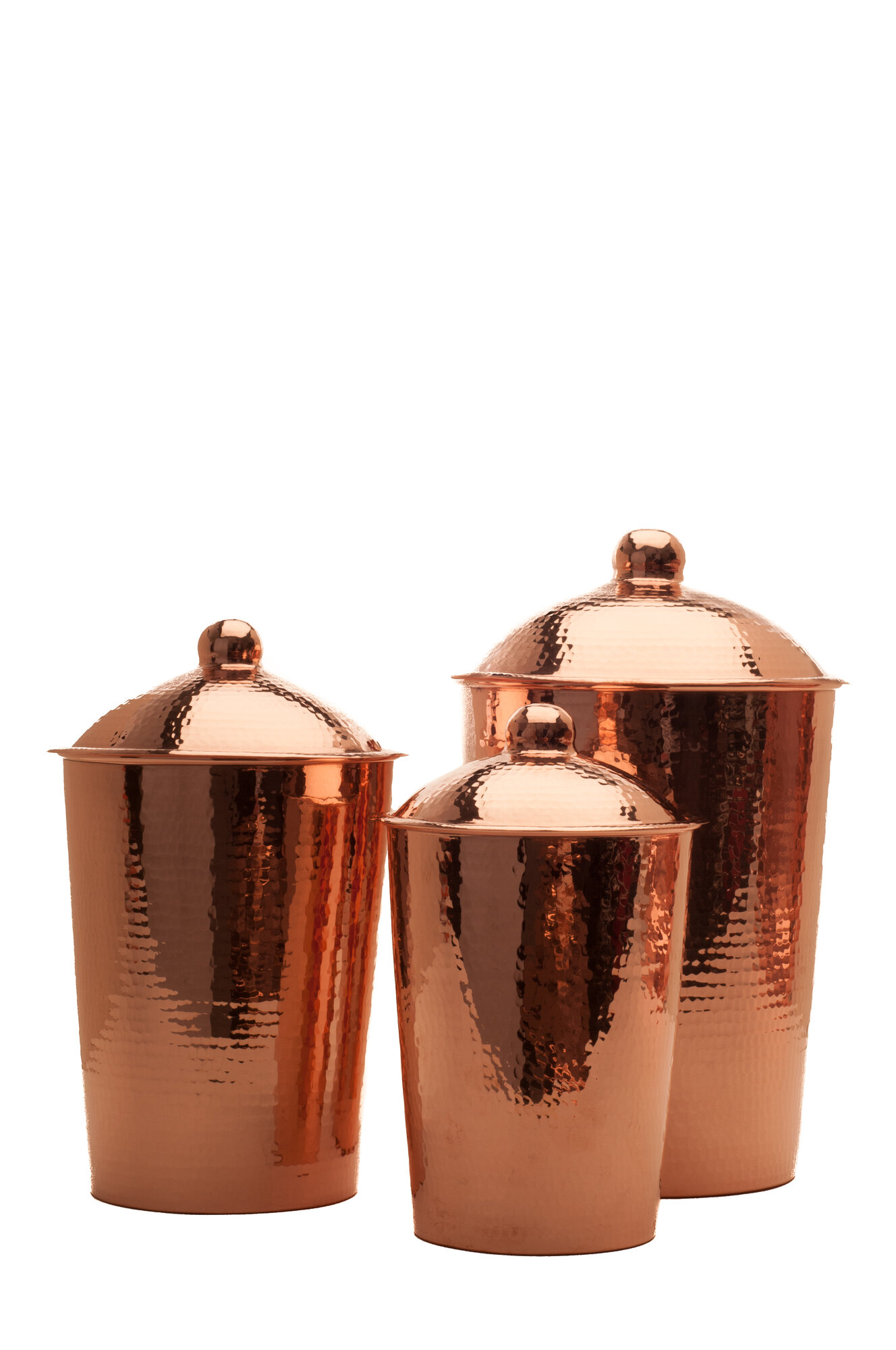 Sertodo copper kumran 3 piece kitchen canister set ebay for Kitchen set ebay