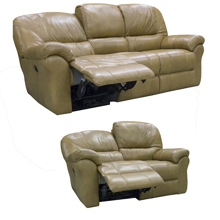 Frankfort Top Grain Leather Sofa Recliner And Loveseat Recliner With Power Set Ebay