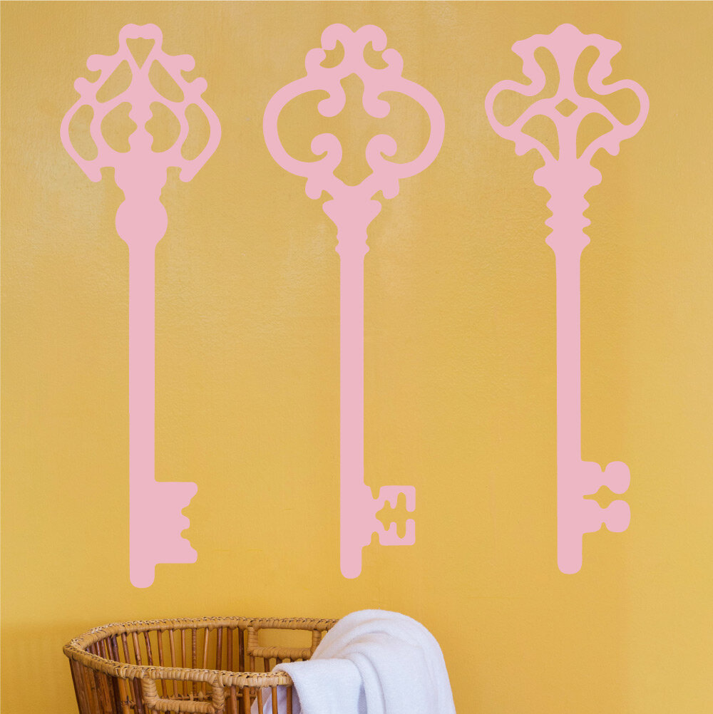 Attractive Skeleton Key Wall Art Embellishment - Wall Art ...
