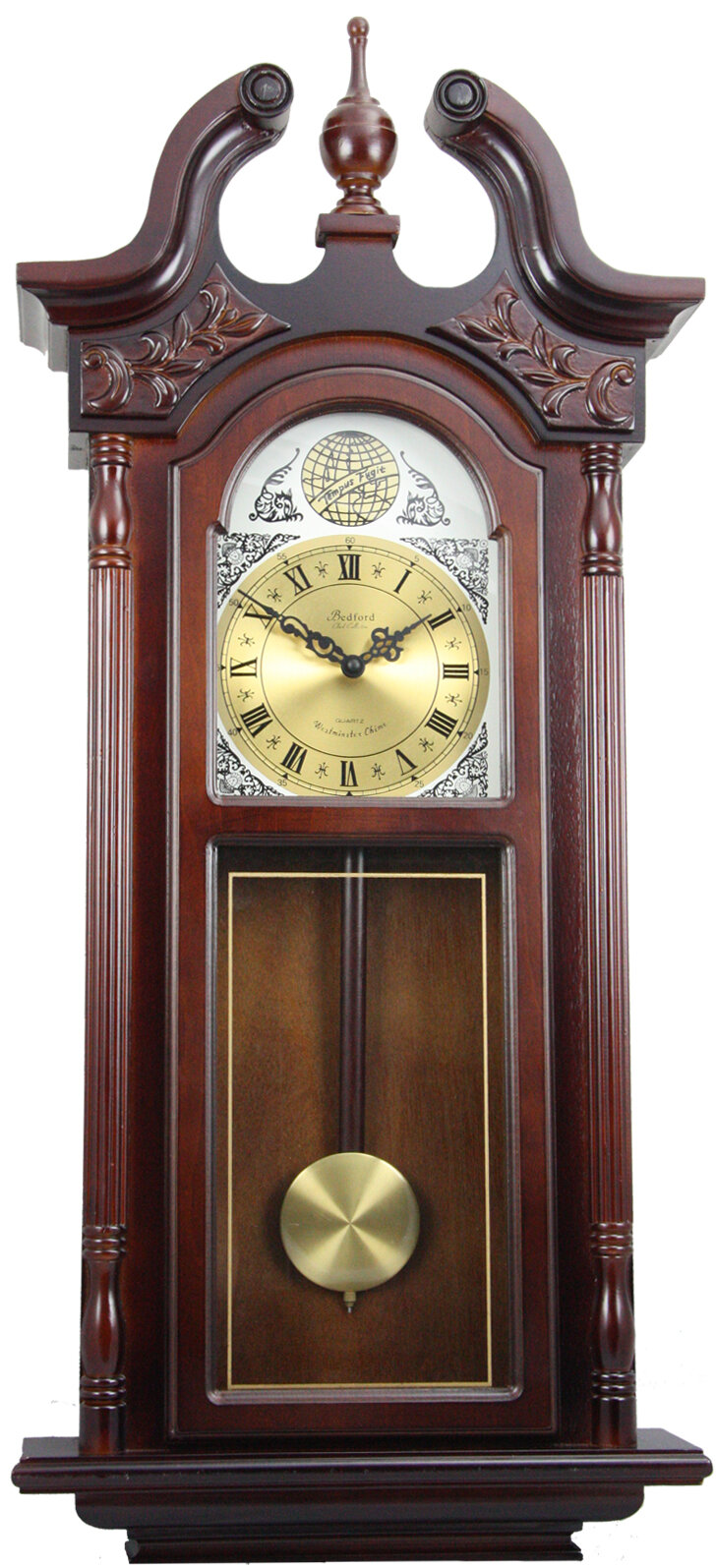 Bedford Clocks Chiming Wall Clock With Roman Numeral Ebay