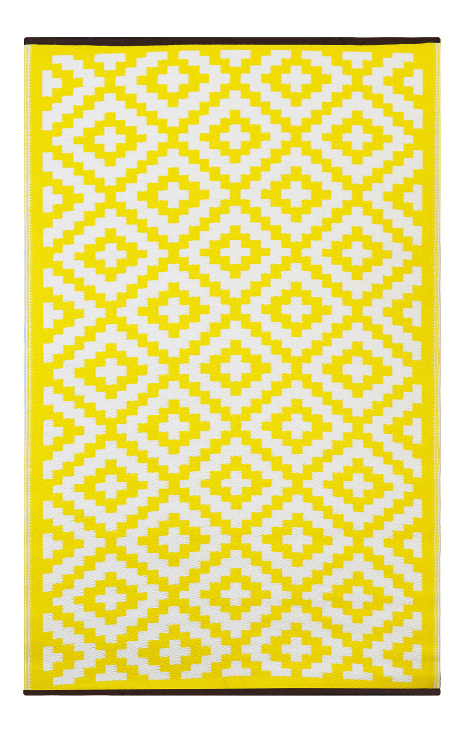 green decore nirvana yellow white indoor outdoor area rug ebay. Black Bedroom Furniture Sets. Home Design Ideas