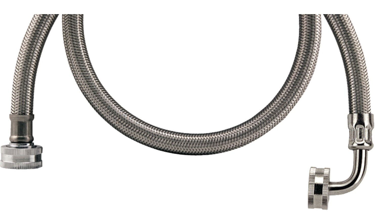 certified appliances 5 39 braided stainless steel washing machine hose with elbow ebay. Black Bedroom Furniture Sets. Home Design Ideas