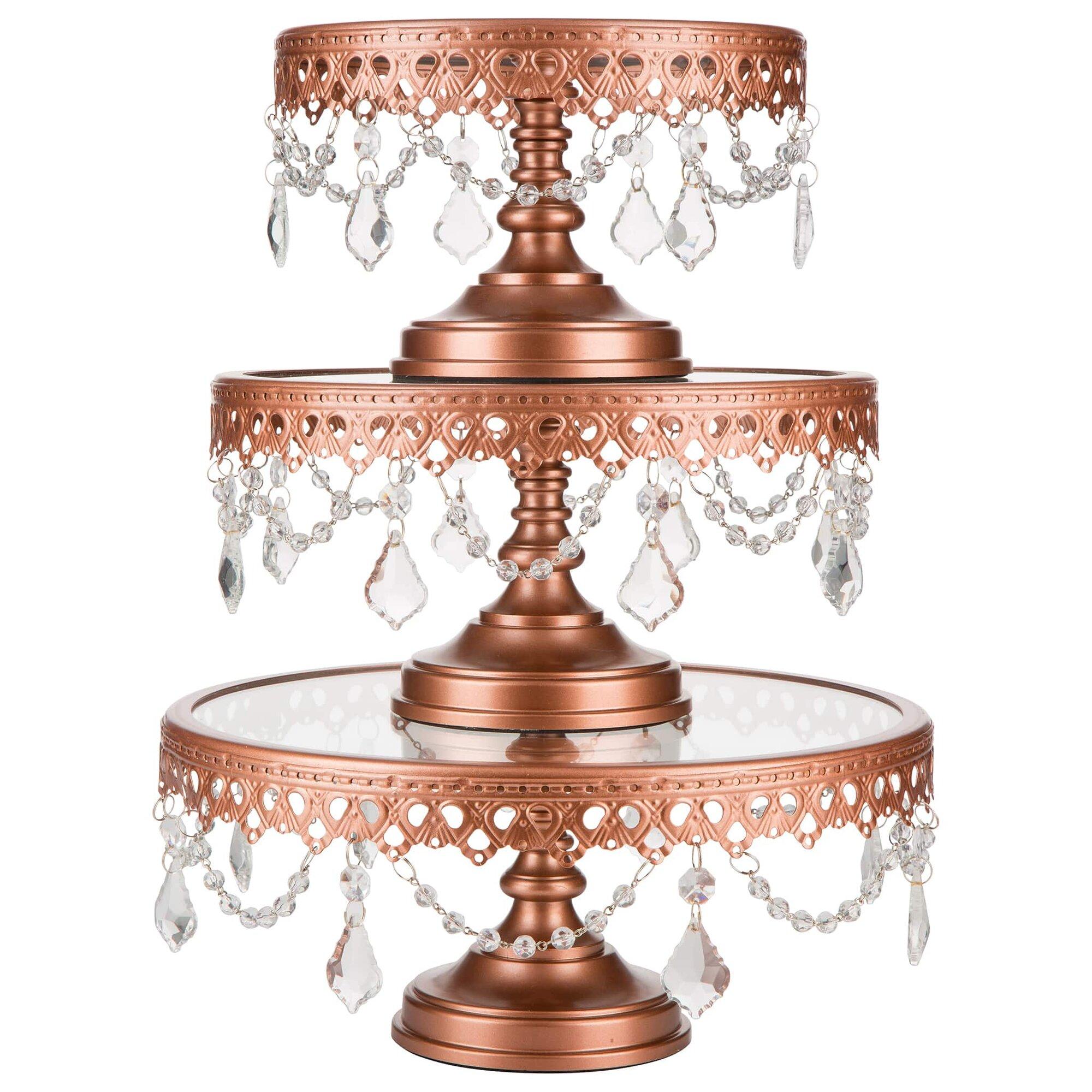 Amalfi decor victoria 3 piece metal cake stand set ebay for Stand decoration