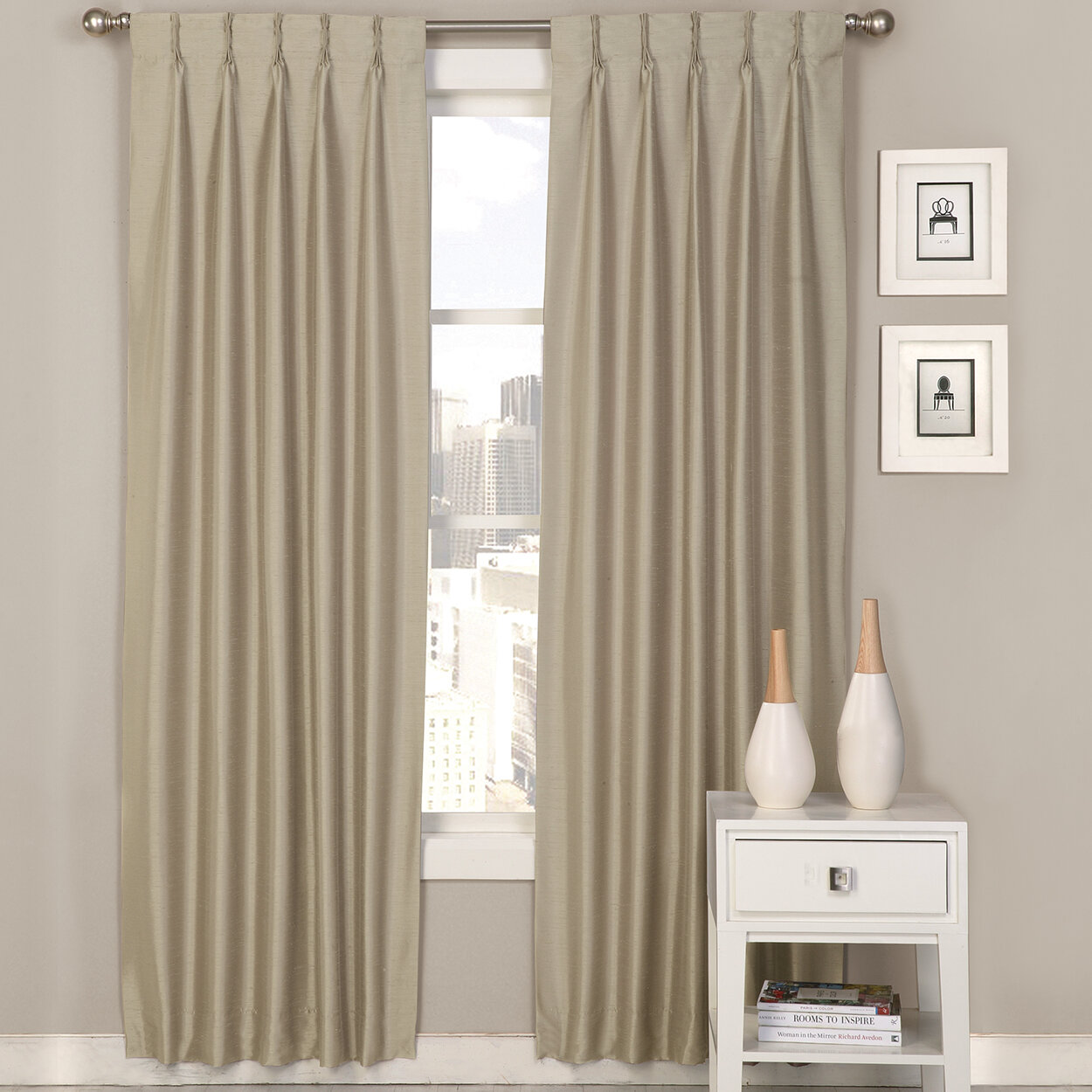 Ultimate Luxury Palace Solid Semi Sheer Pinch Pleat