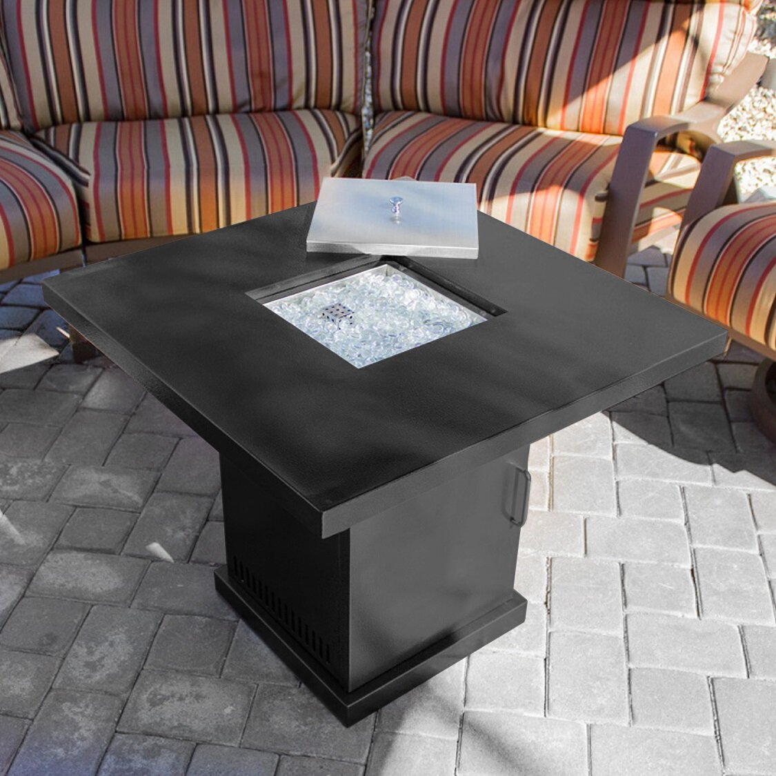Outdoor Coffee Table Heater: Belleze 40,000 BTU Outdoor Table Patio Heater Fire Pit