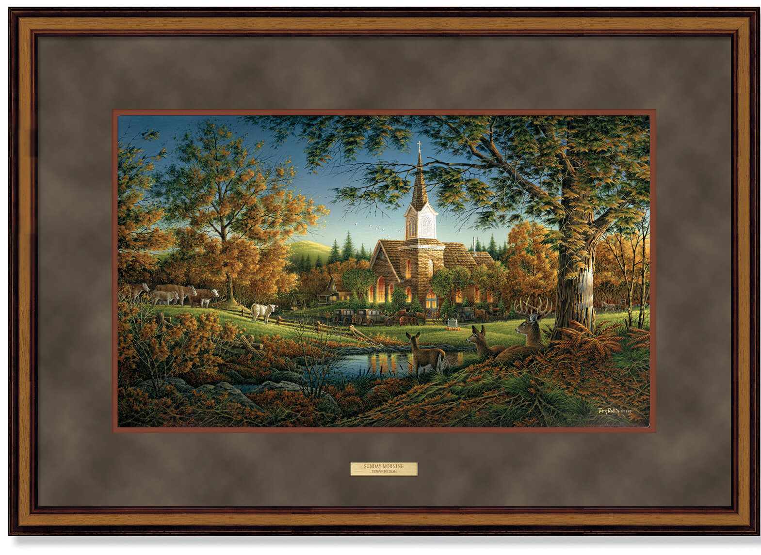 Wild Wings Sunday Morning By Terry Redlin Framed Painting