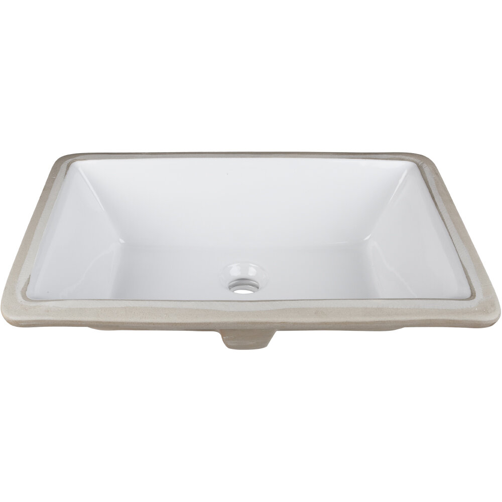 Hardware resources rectangle undermount bathroom sink ebay - Rectangle undermount bathroom sink ...