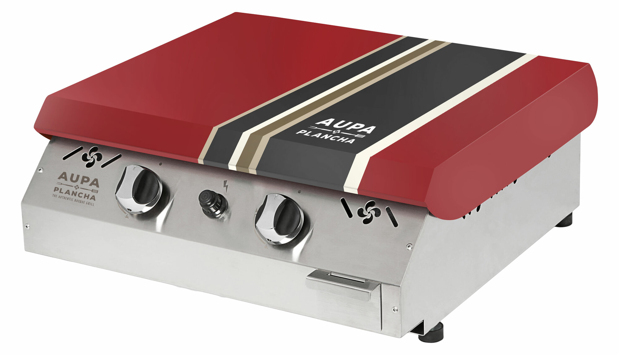 aupa plancha 20 flattop 2 burner portable propane gas. Black Bedroom Furniture Sets. Home Design Ideas