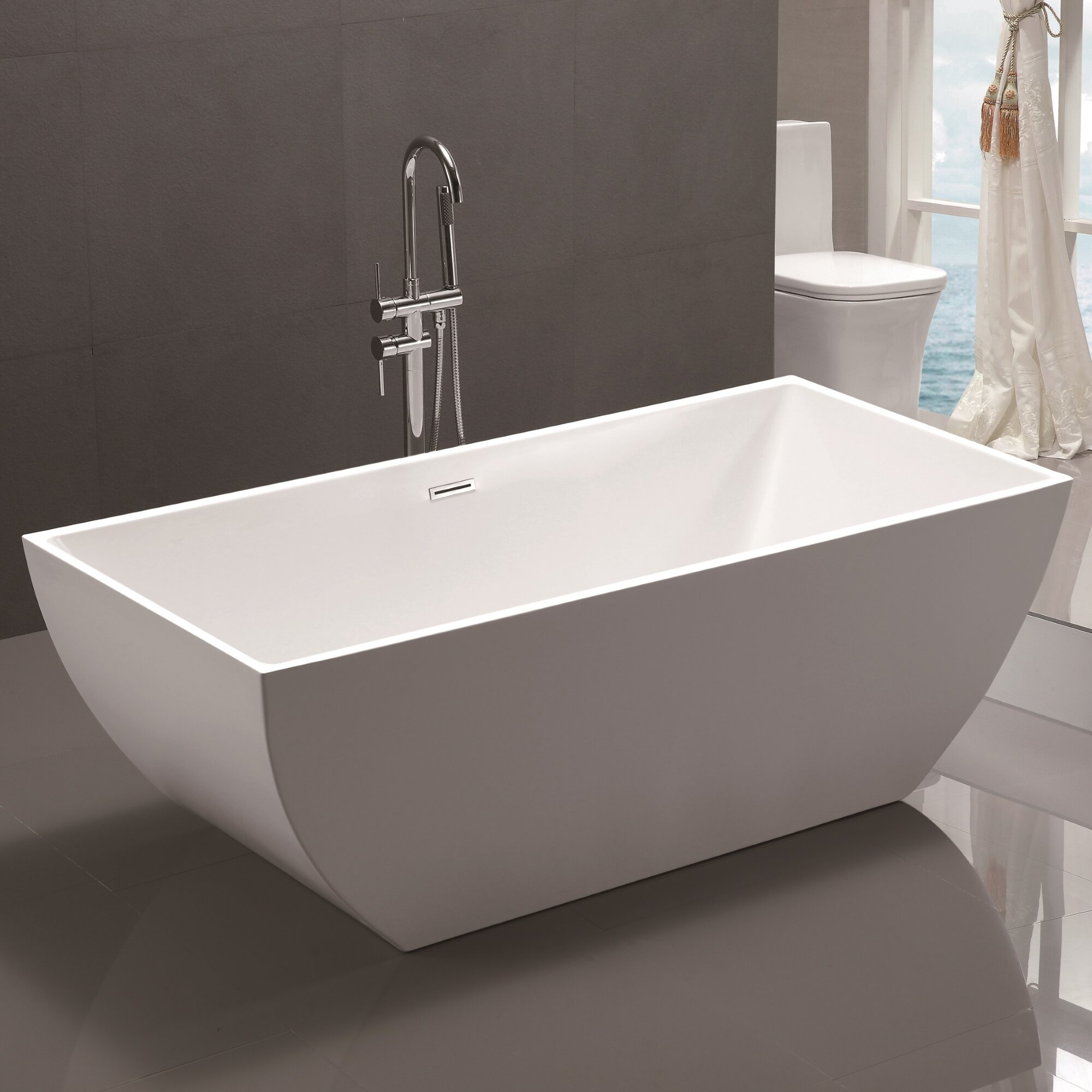 Vanity Art 59 X 29 5 Freestanding Soaking Bathtub