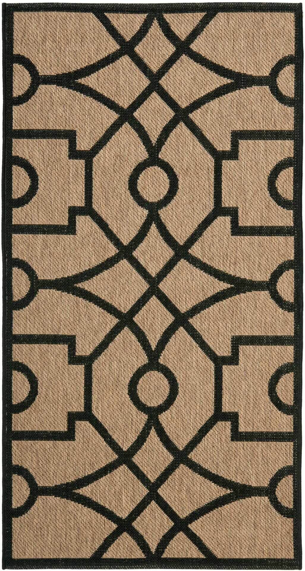 safavieh martha stewart fretwork tan black area rug ebay. Black Bedroom Furniture Sets. Home Design Ideas