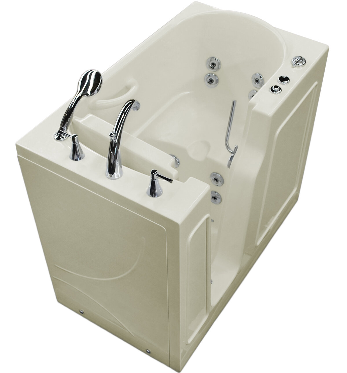 Therapeutic tubs prairie 46 x 26 walk in whirlpool for Walk in tub water capacity