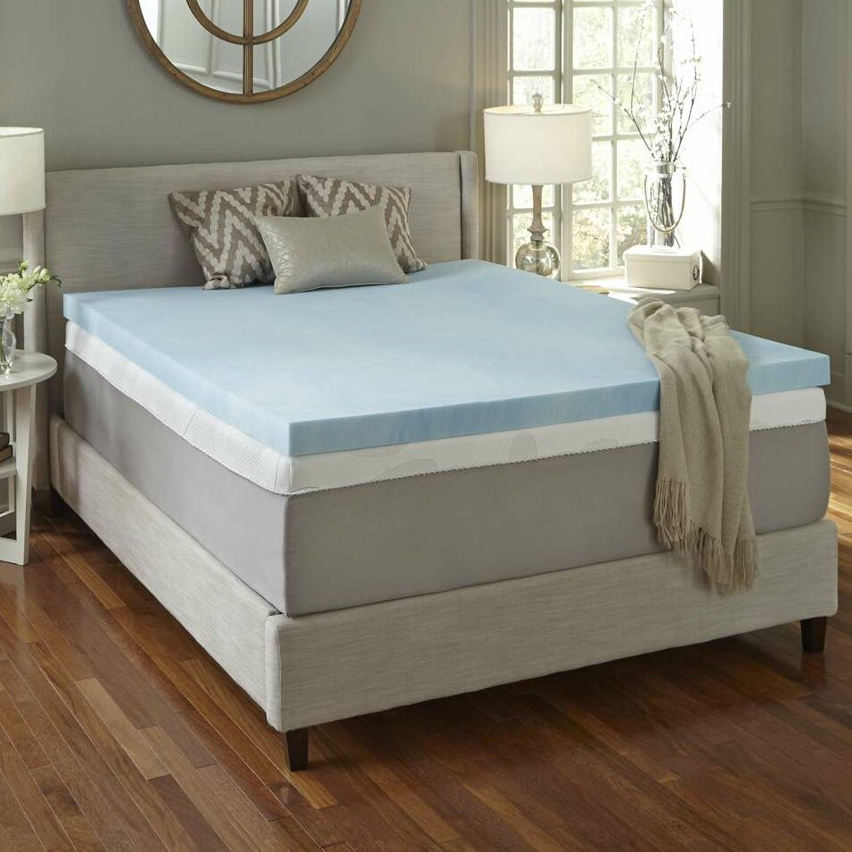 simmons curv simmons curv 4 flat gel memory foam mattress topper ebay. Black Bedroom Furniture Sets. Home Design Ideas