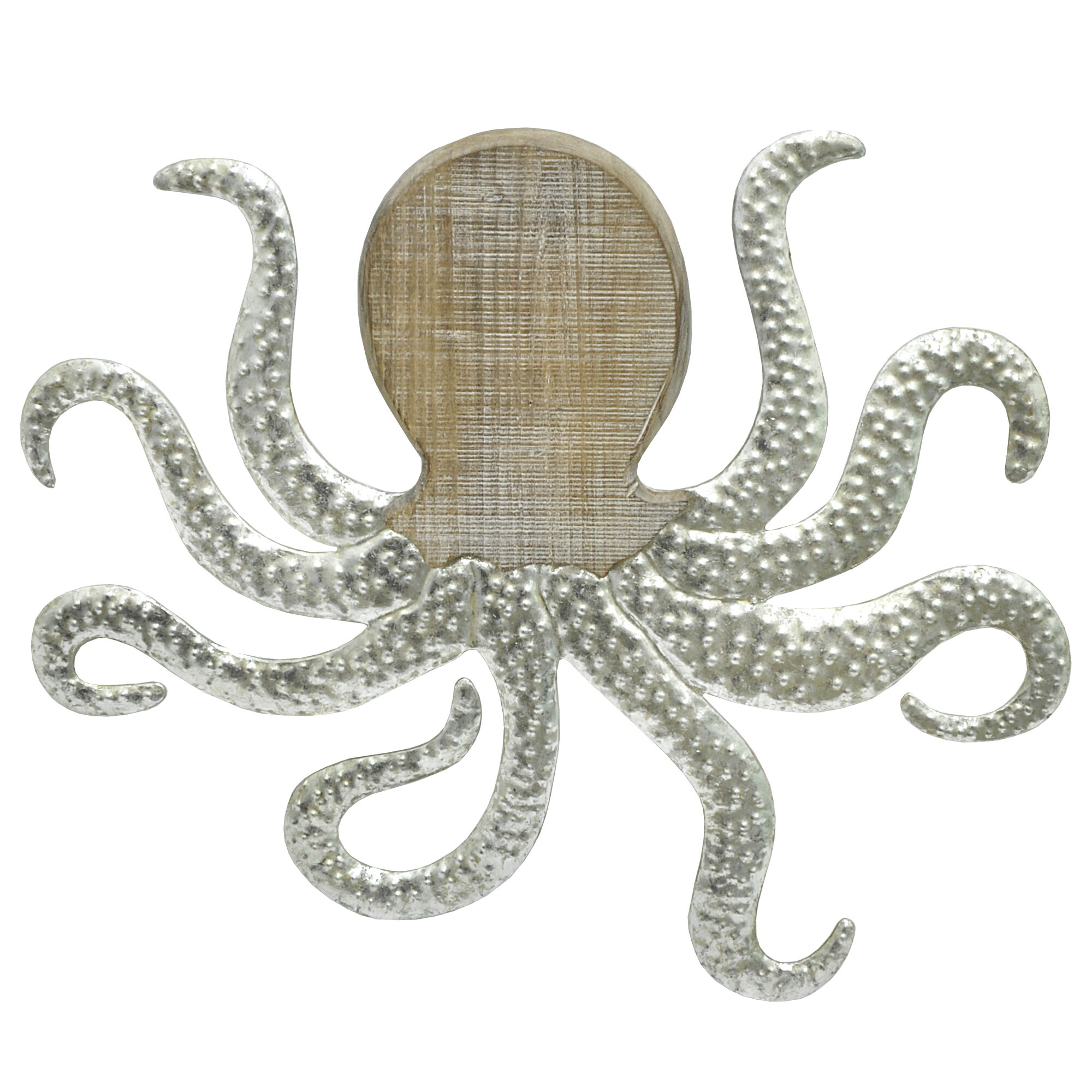 Wooden Octopus Wall Decor : Three hands co octopus wood and metal wall d?cor