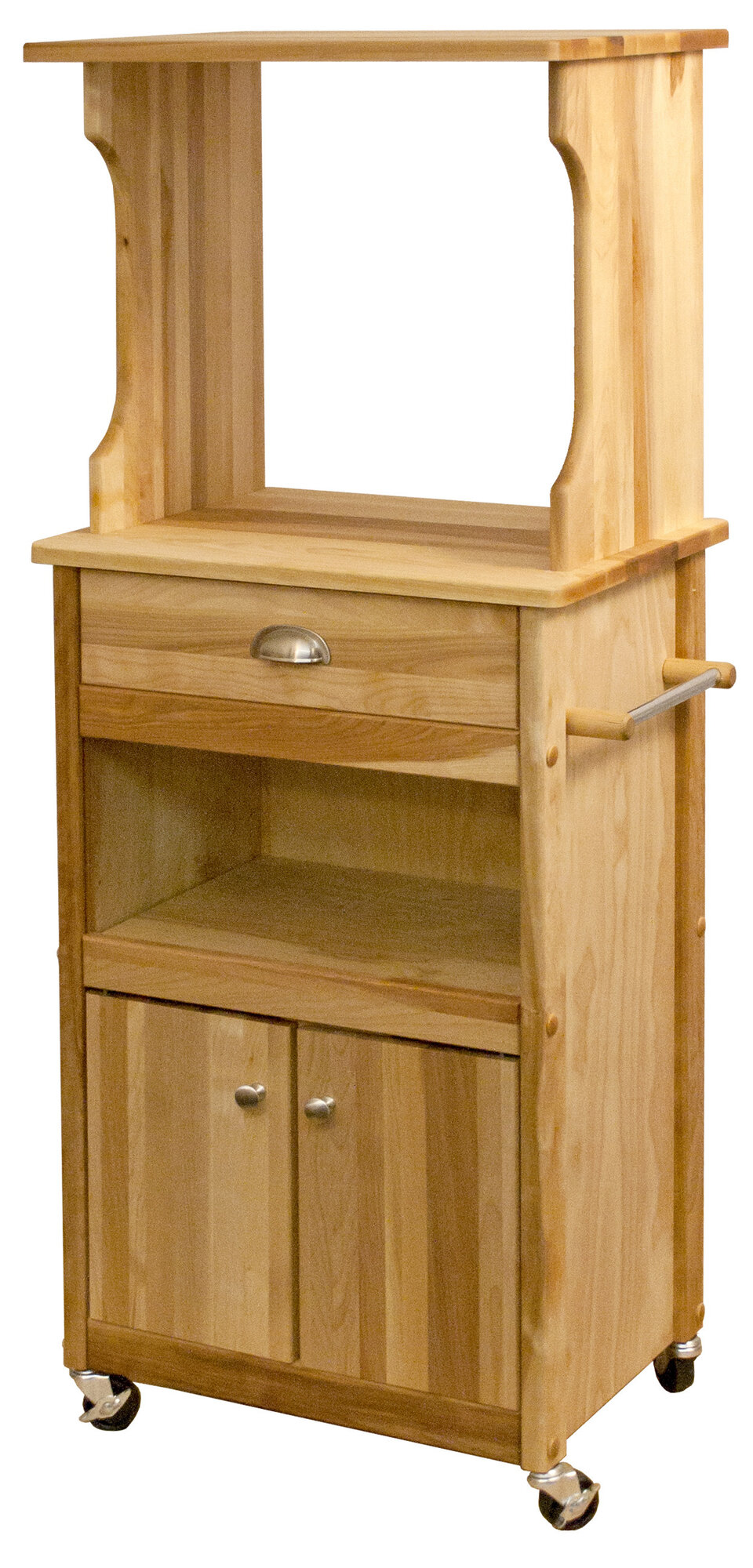 catskill craftsmen inc microwave cart with butcher block. Black Bedroom Furniture Sets. Home Design Ideas