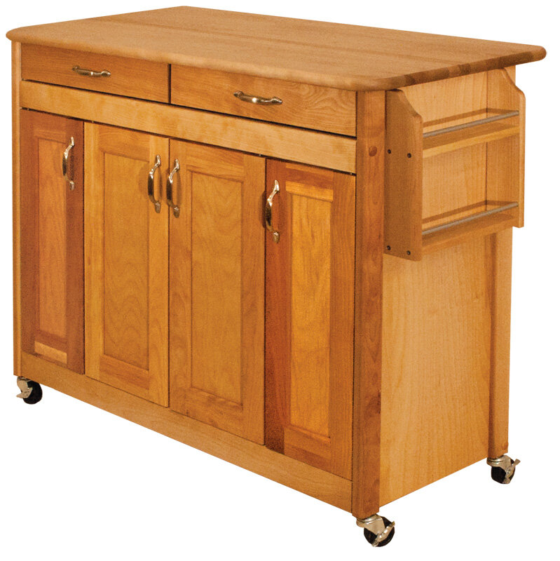 Catskill Craftsmen Kitchen Island With Butcher Block Top : Catskill Craftsmen, Inc. Kitchen Island with Butcher Block Top KL1356 eBay