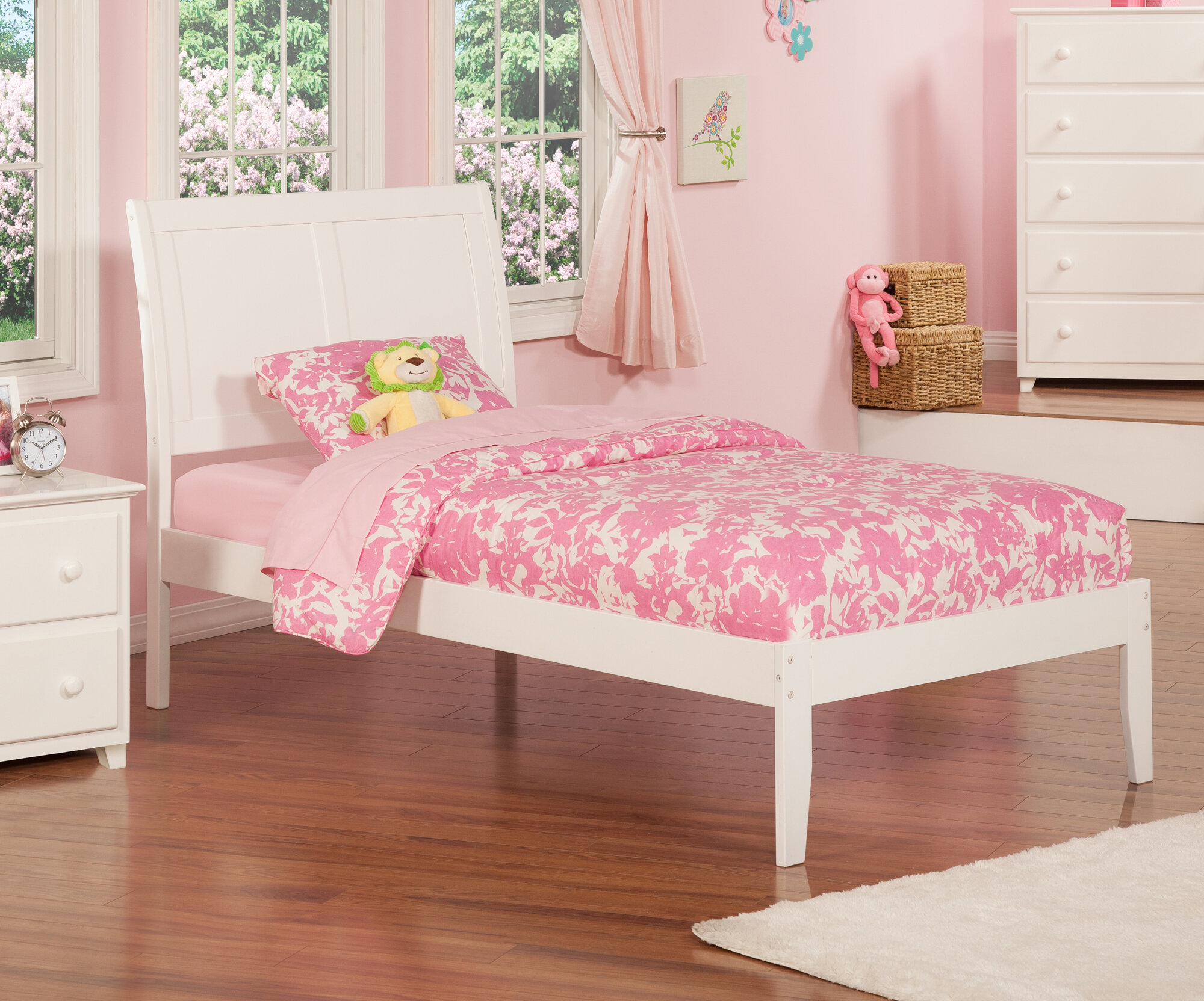 Atlantic Furniture Portland Twin Xl Sleigh Bed With Trundle