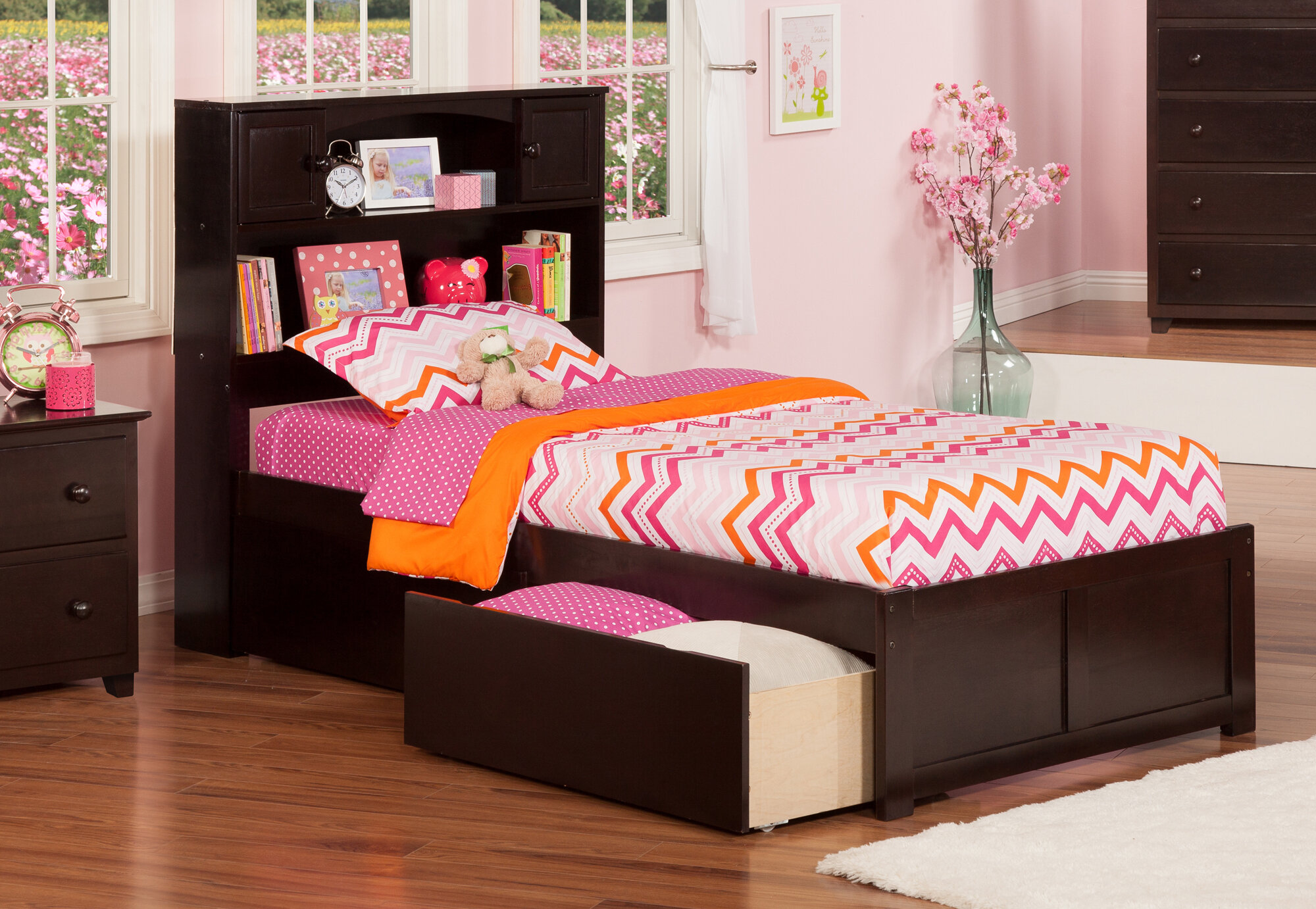 Atlantic Furniture Newport Extra Long Twin Platform Bed With Storage Ebay