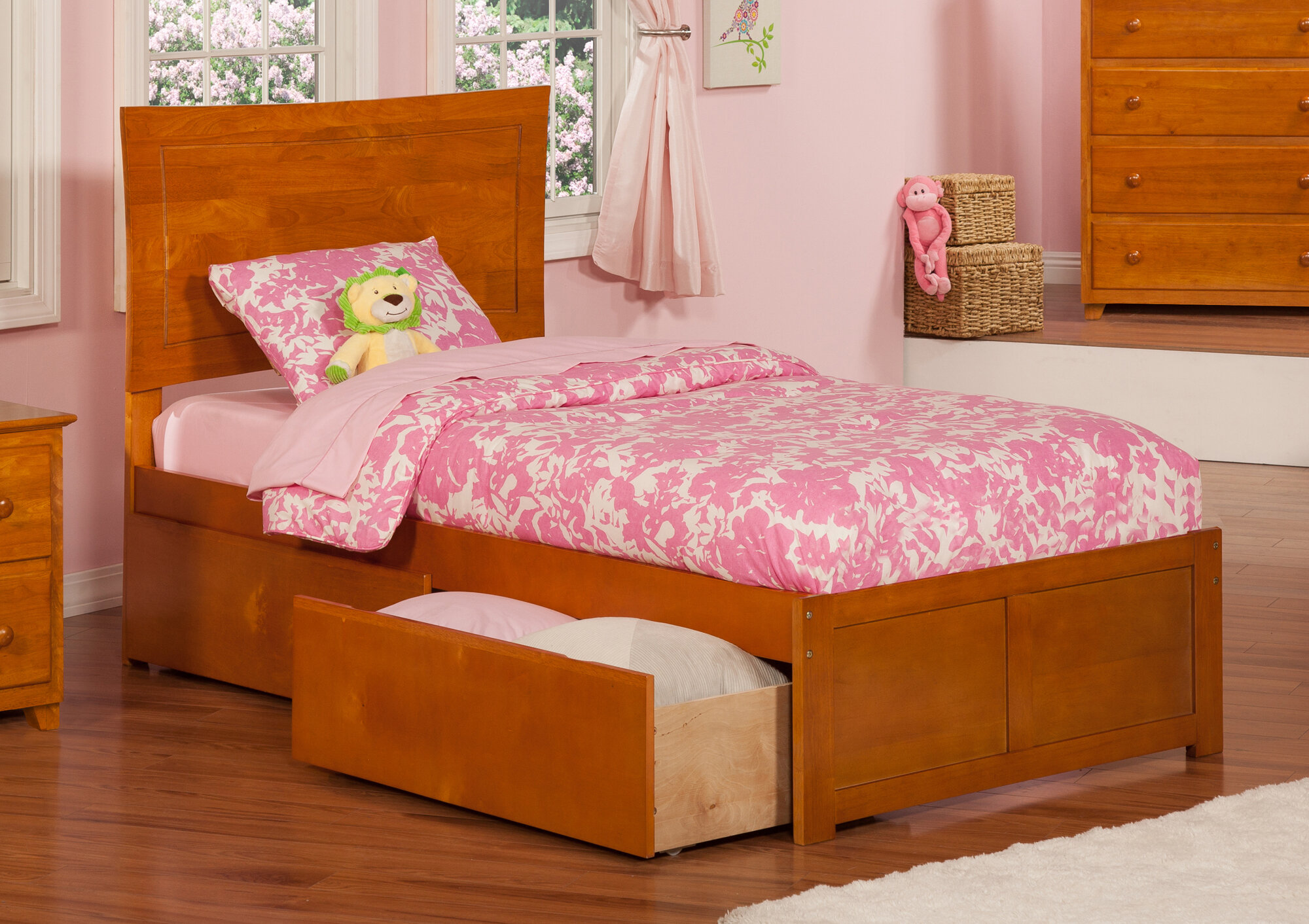 Atlantic Furniture Metro Extra Long Twin Platform Bed